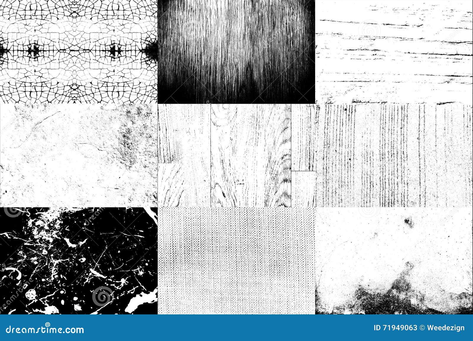 Собрание черно-белой пользы текстуры для верхнего слоя на изображении t