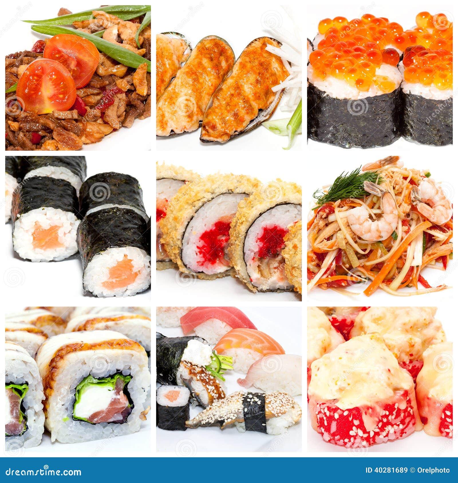 Собрание японской еды