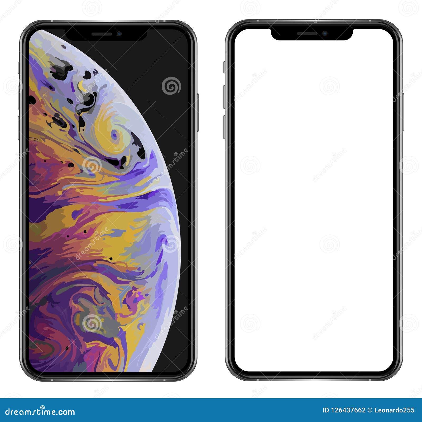 Совершенно новый реалистический smartphone мобильного телефона в iPhone XS Максе Яблока