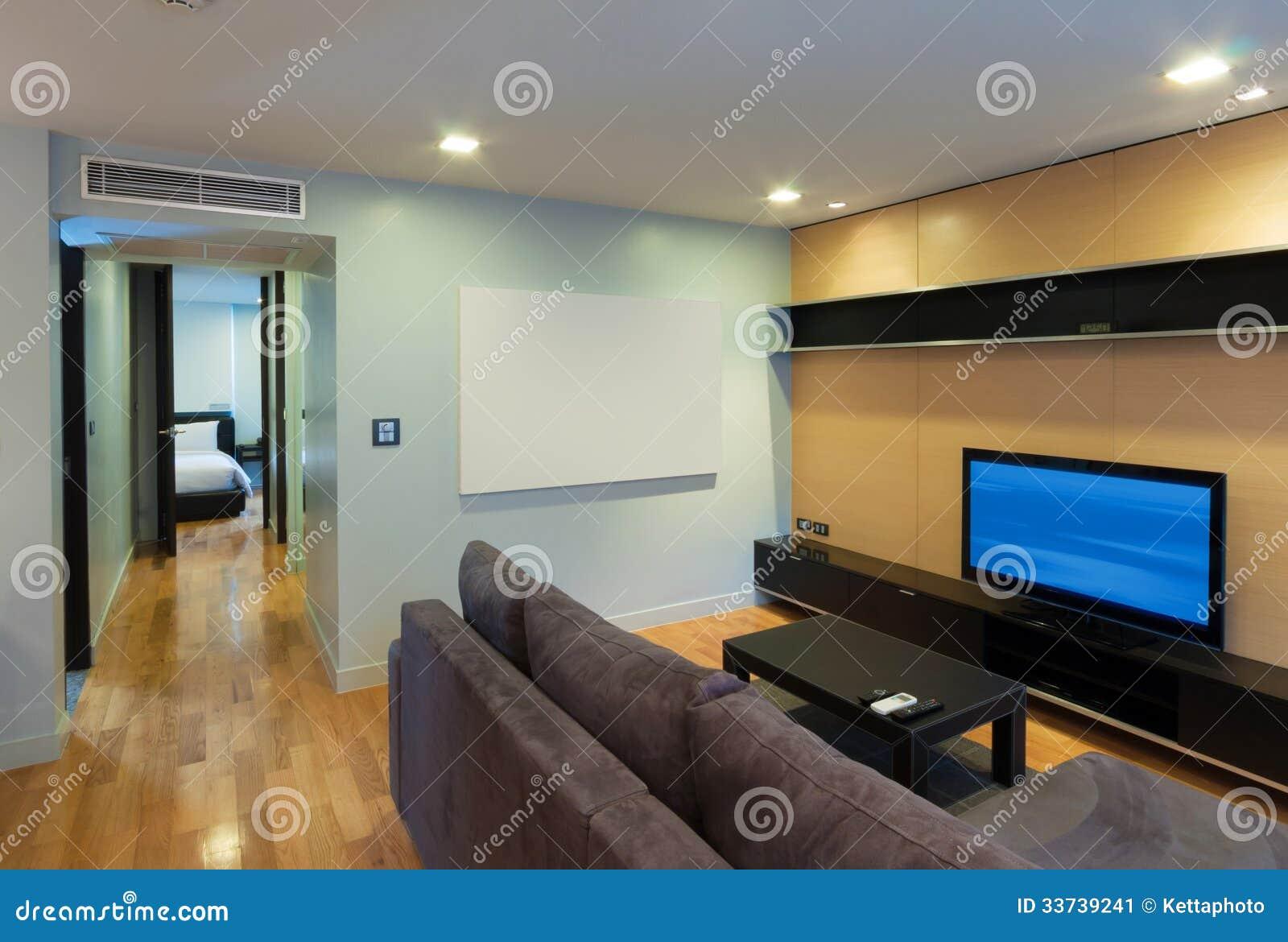Современная жить-комната