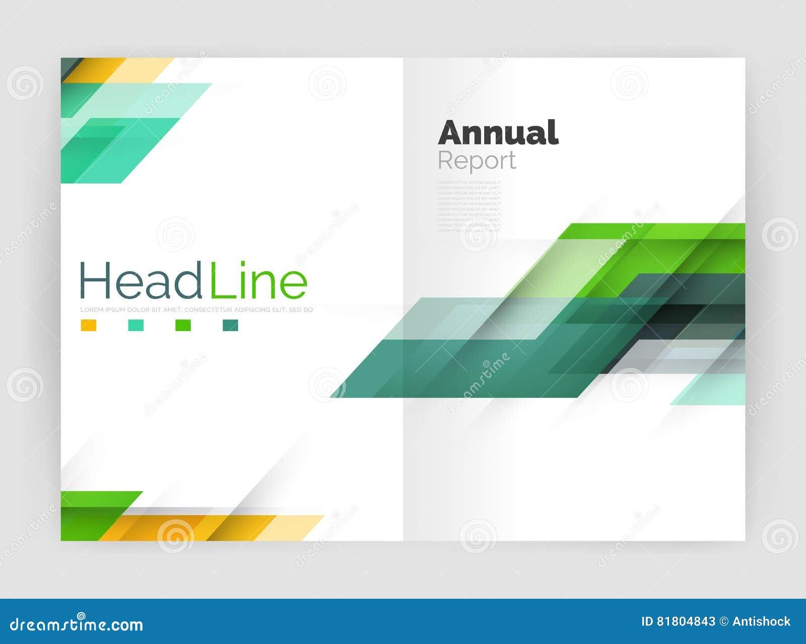 Современная линия дизайн, концепция движения Шаблоны брошюры годового отчета дела