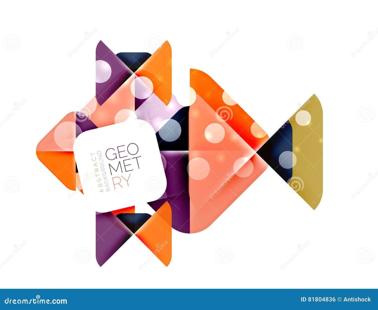 Современная квадратная абстрактная предпосылка