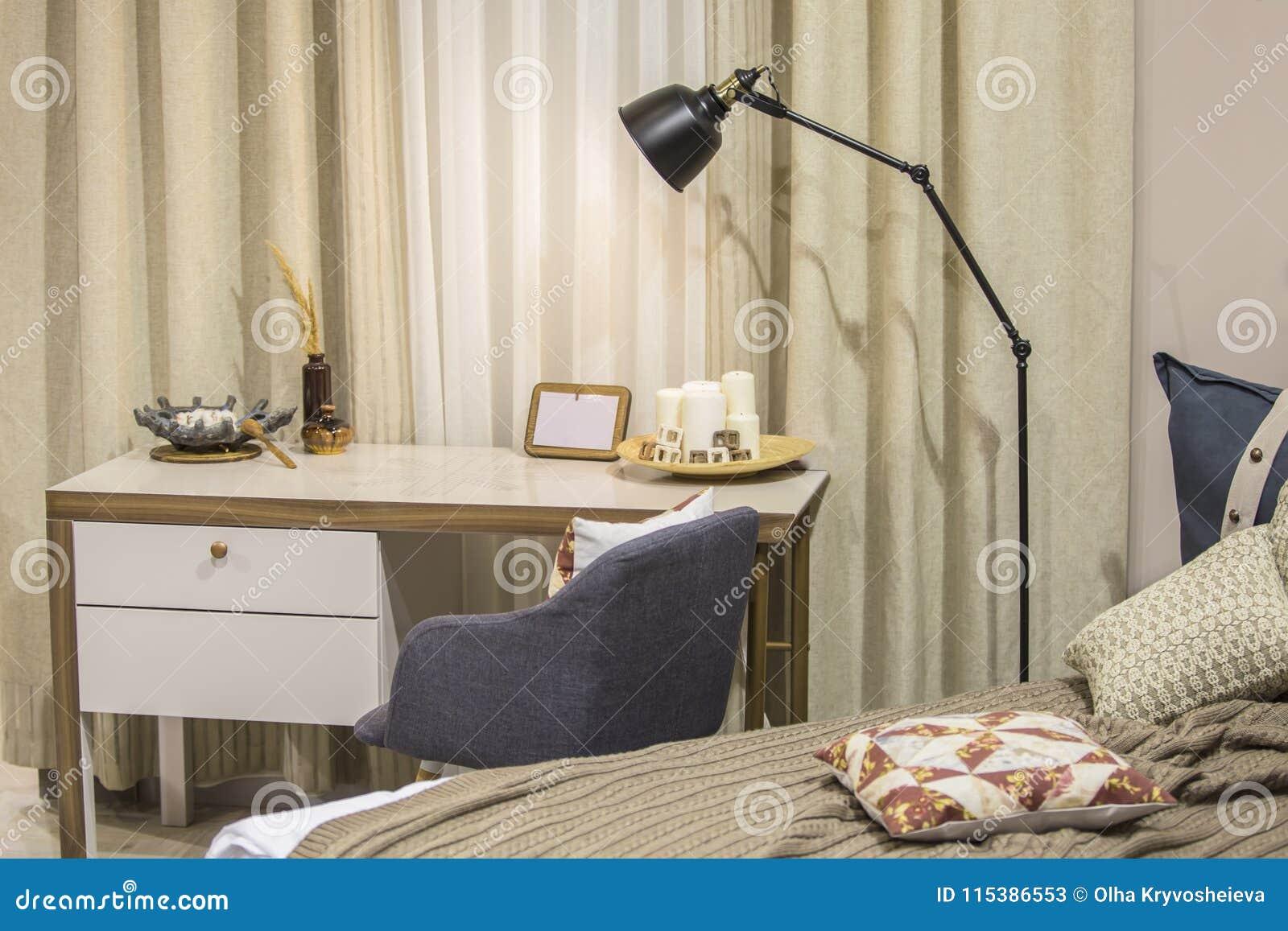 современная комната для подростка в скандинавском стиле кровати