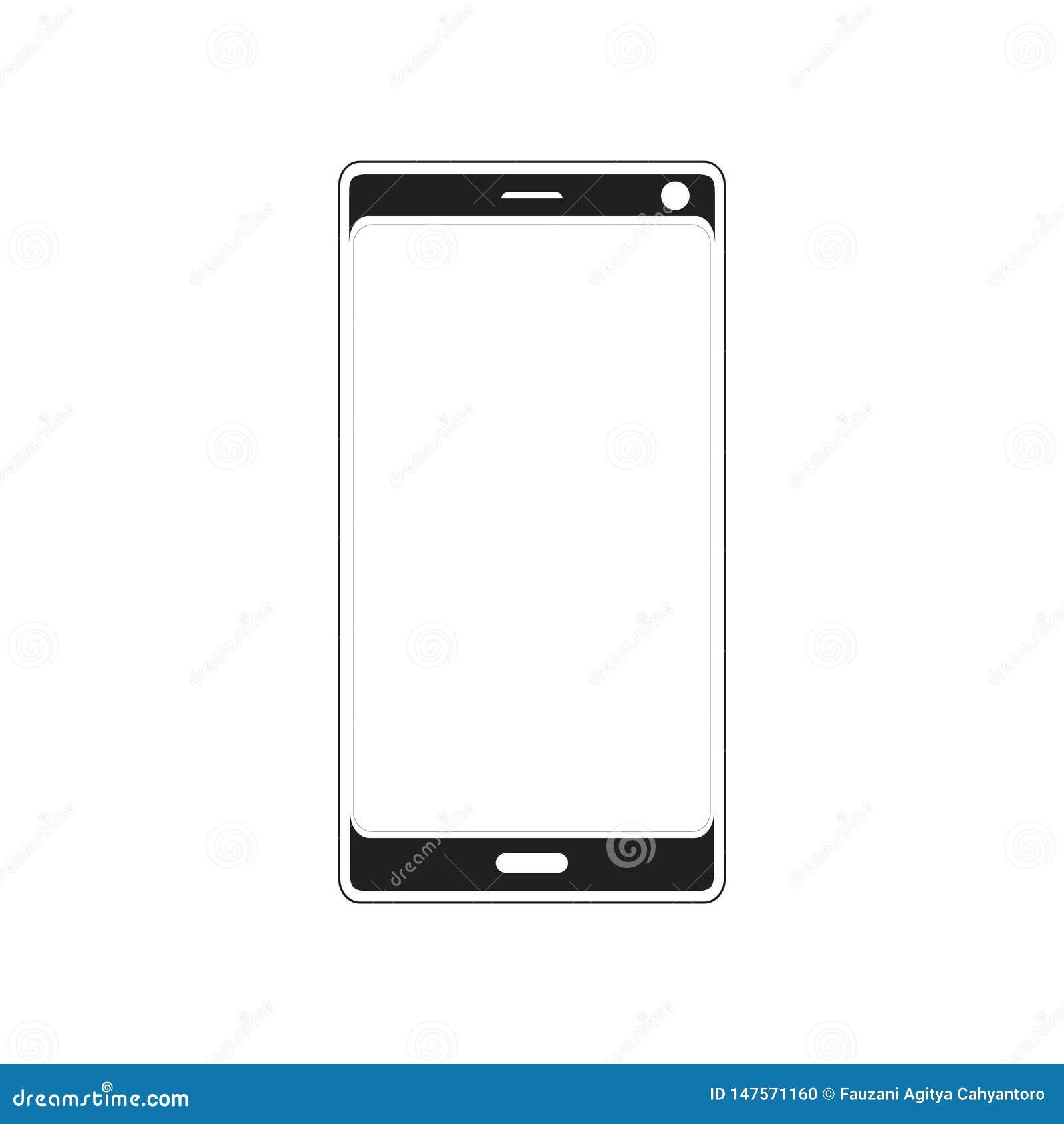 Современная концепция логотипа силуэта смартфона