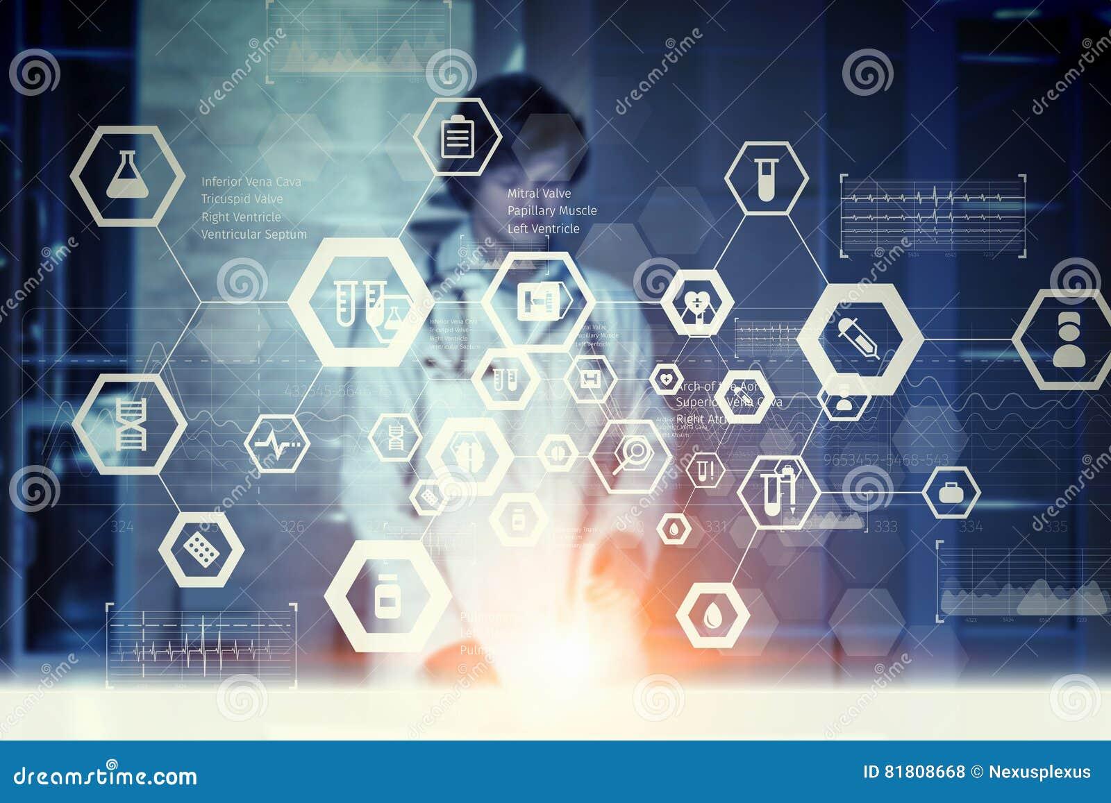 Современная медицинская концепция технологий Мультимедиа