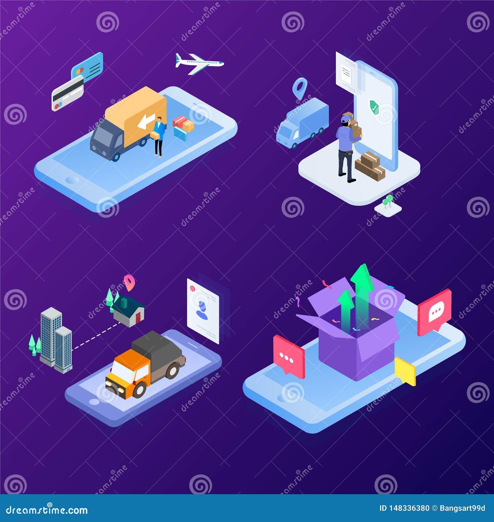 Современная система логистическая быстрая доставка используя технологию будущего интернета r