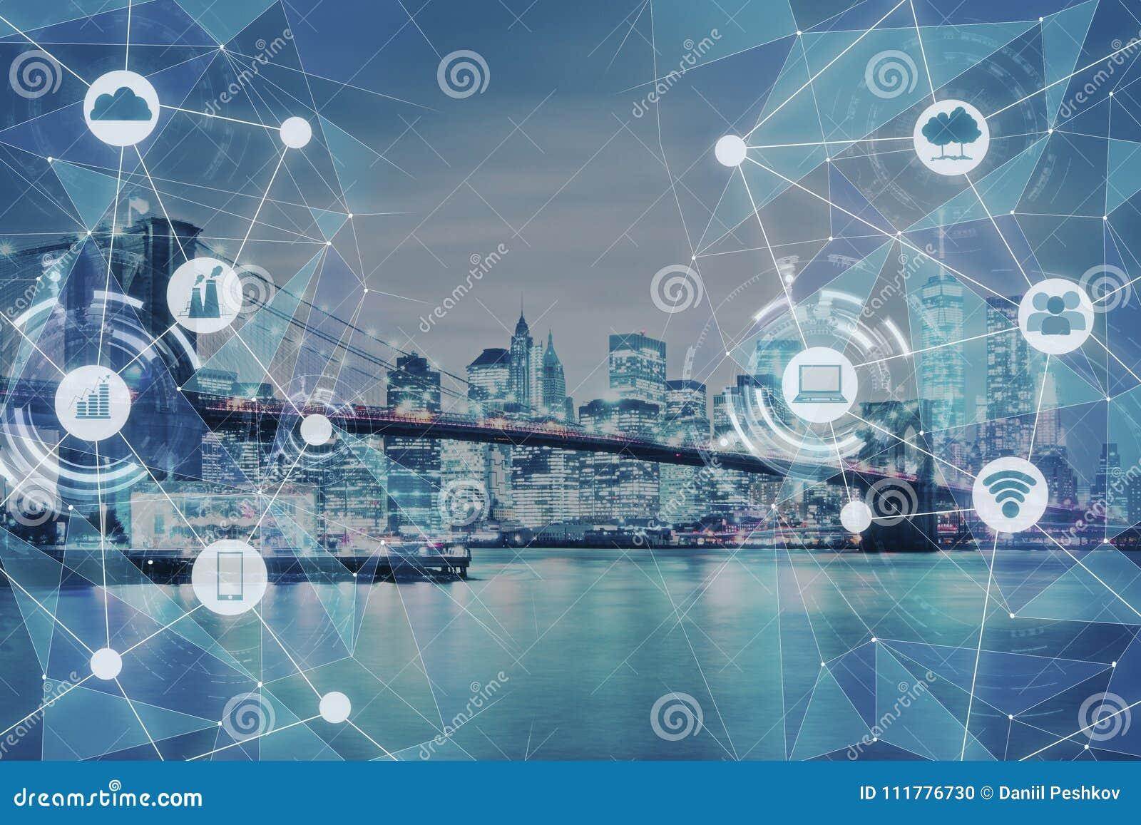 Современная текстура города техника