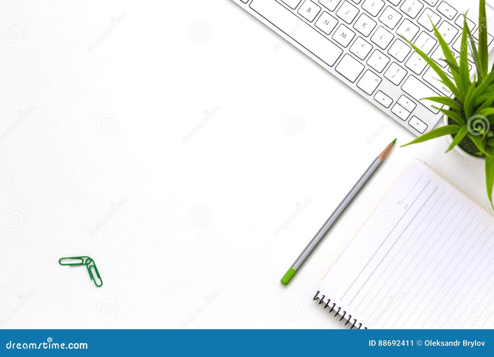 Современное белое положение стола офиса плоское с деталями и заводом дела