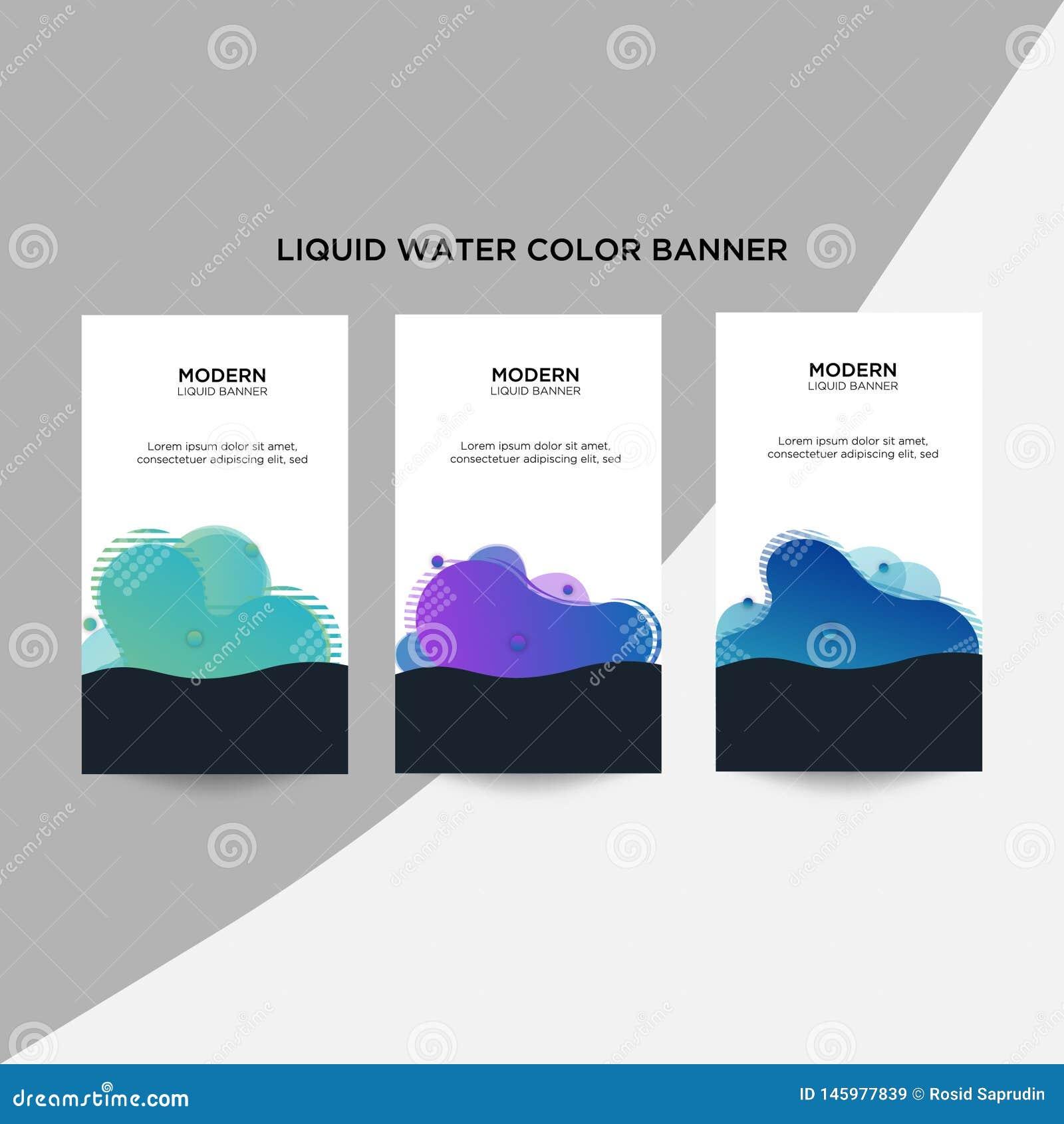 Современные абстрактные знамена дела цвета аранжированы в стиле полутонового изображения