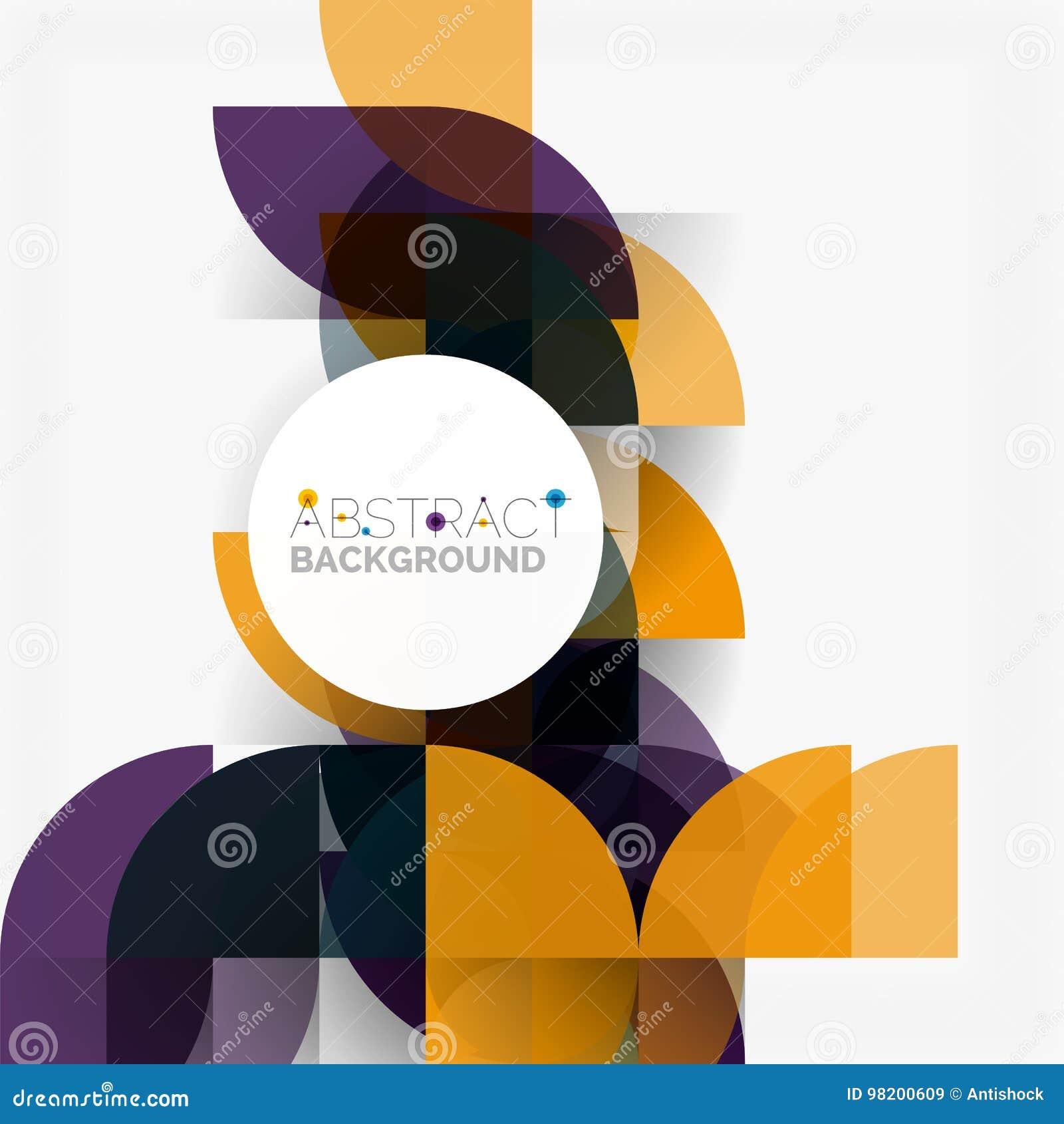 Download Современные геометрические абстрактные круги предпосылки Иллюстрация вектора - иллюстрации насчитывающей concept, график: 98200609