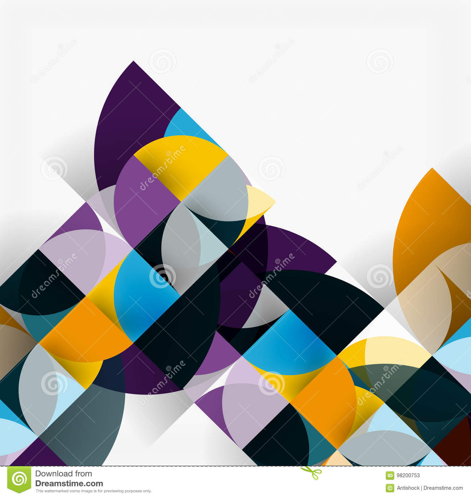 Download Современные геометрические абстрактные круги предпосылки Иллюстрация вектора - иллюстрации насчитывающей backhoe, изображение: 98200753