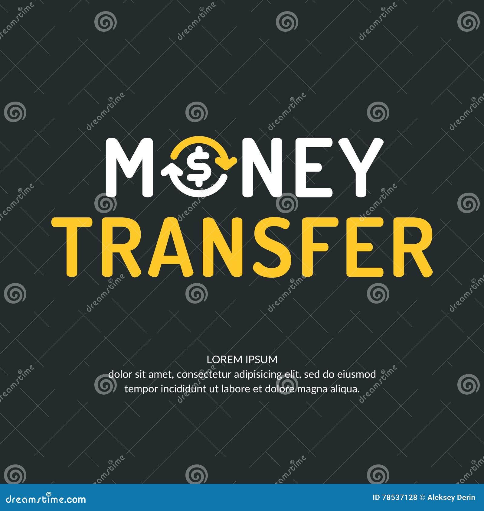 Современные логотип и эмблема денежного перевода