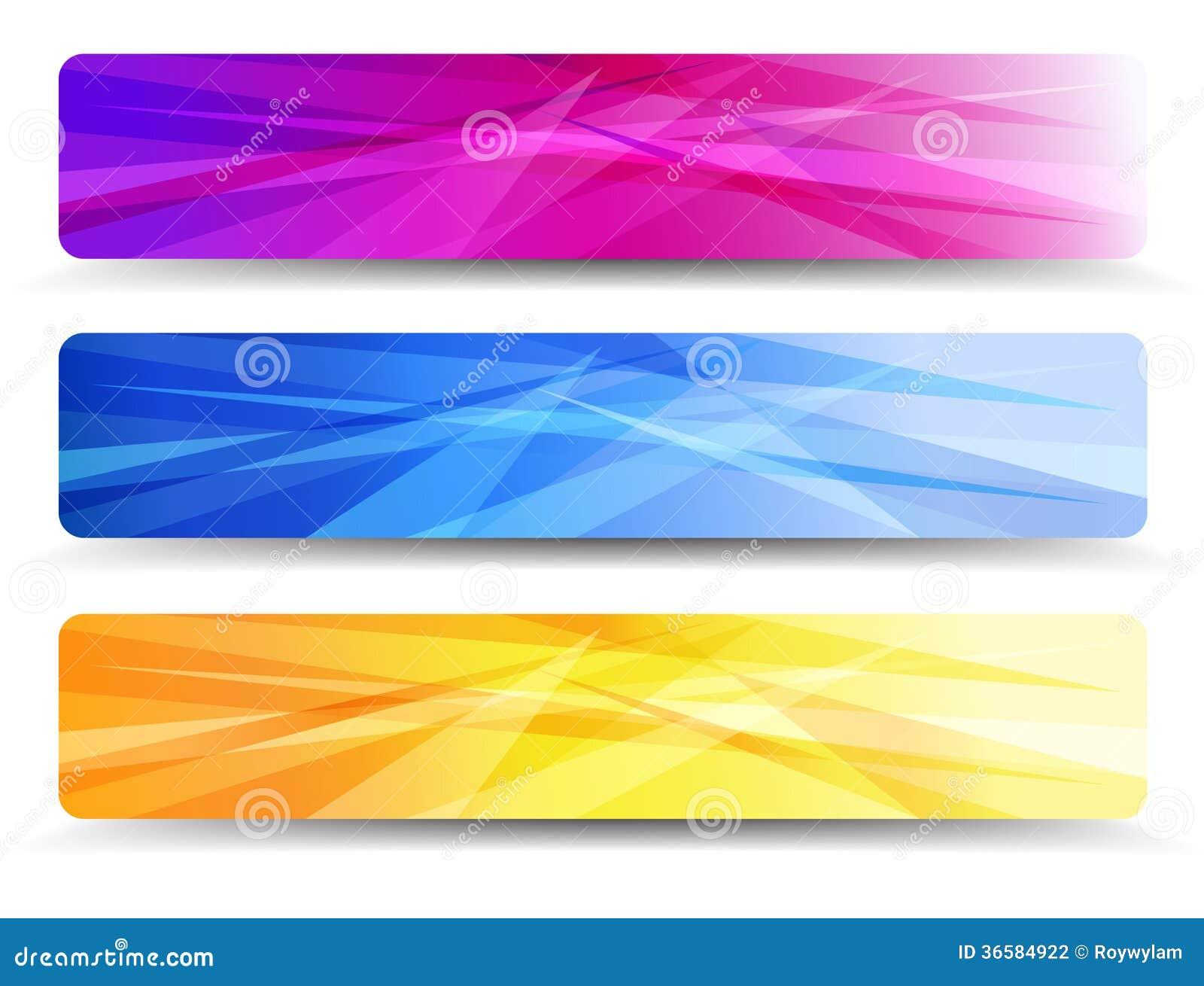 Современный комплект знамен сети с абстрактным backgrou