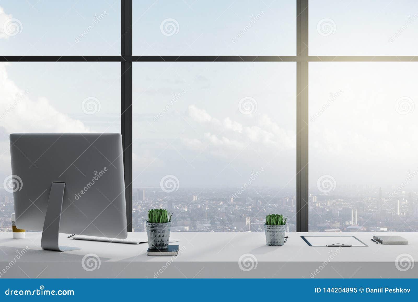 Современный рабочий стол рабочего места