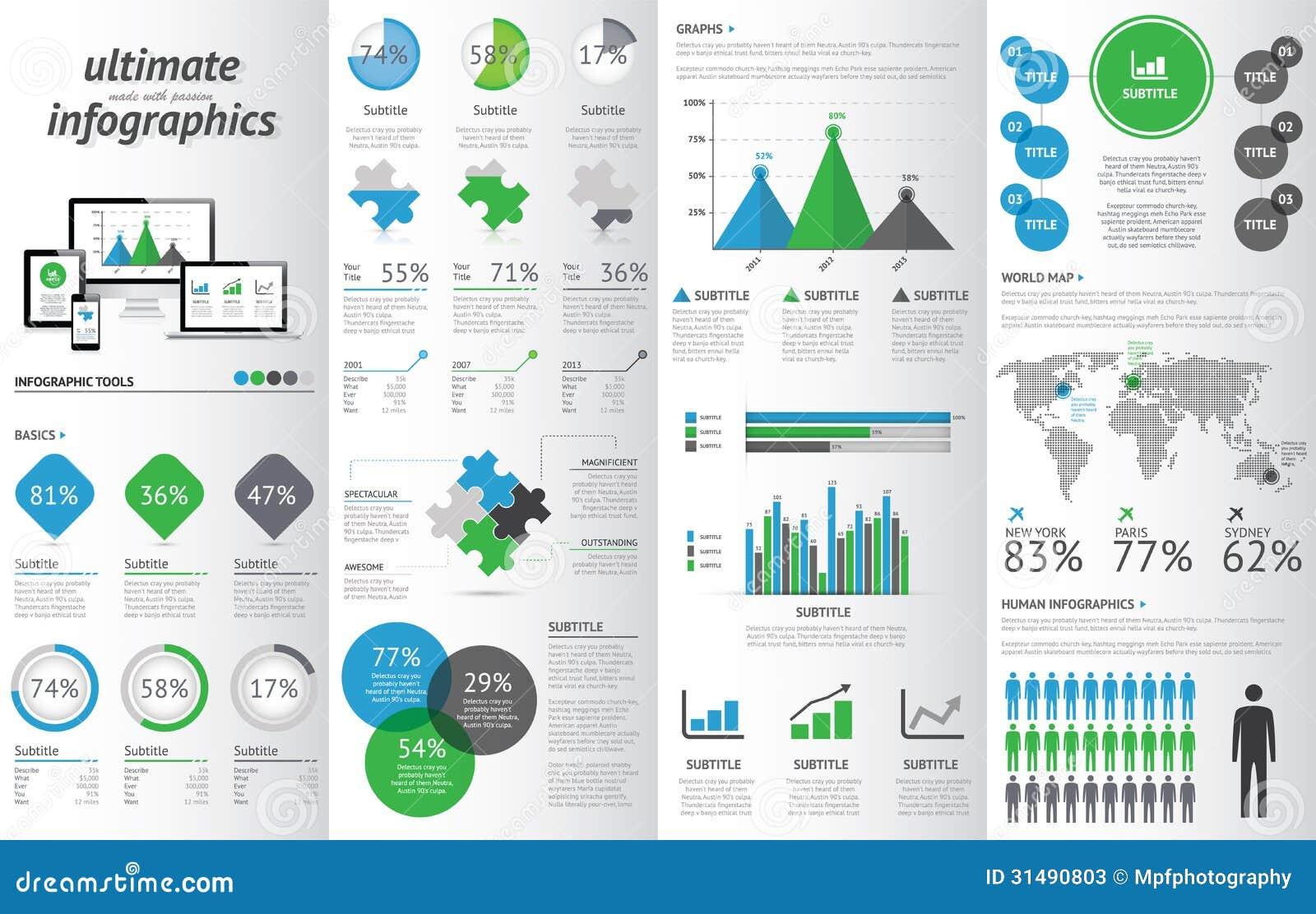 Responsive infographics samples