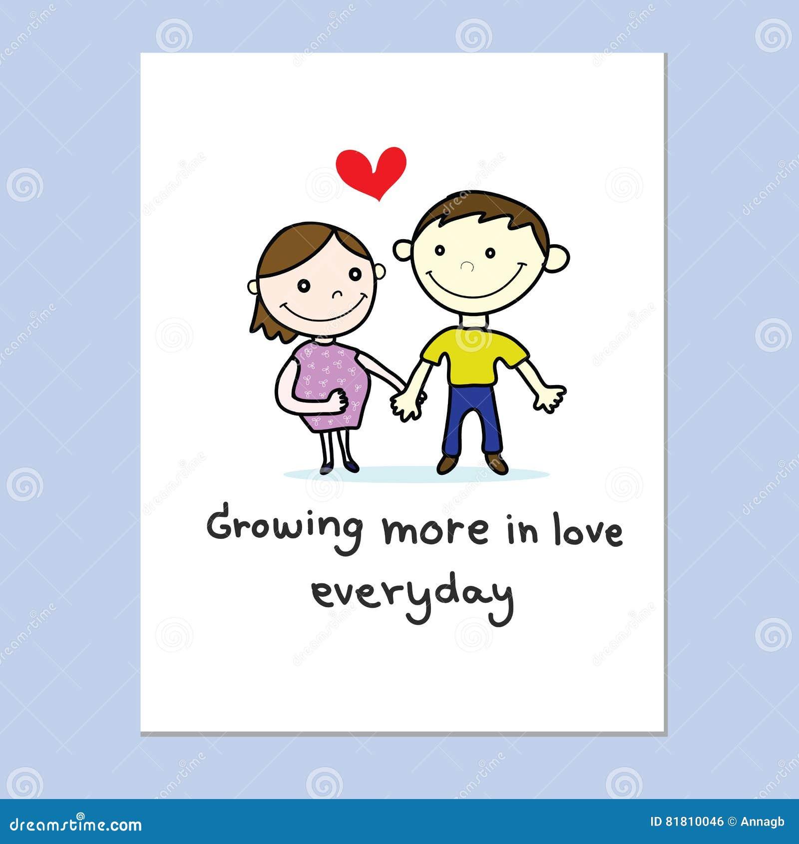 Соедините влюбленность с красной карточкой сердца нарисованной рукой