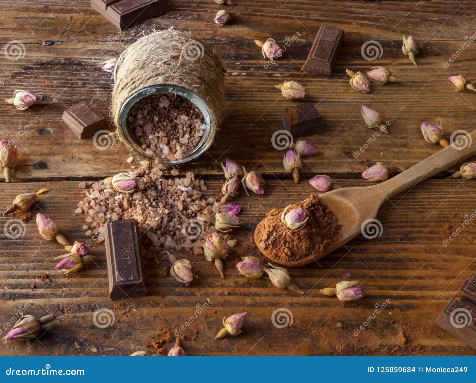 Соли для принятия ванны шоколада, курорт шоколада
