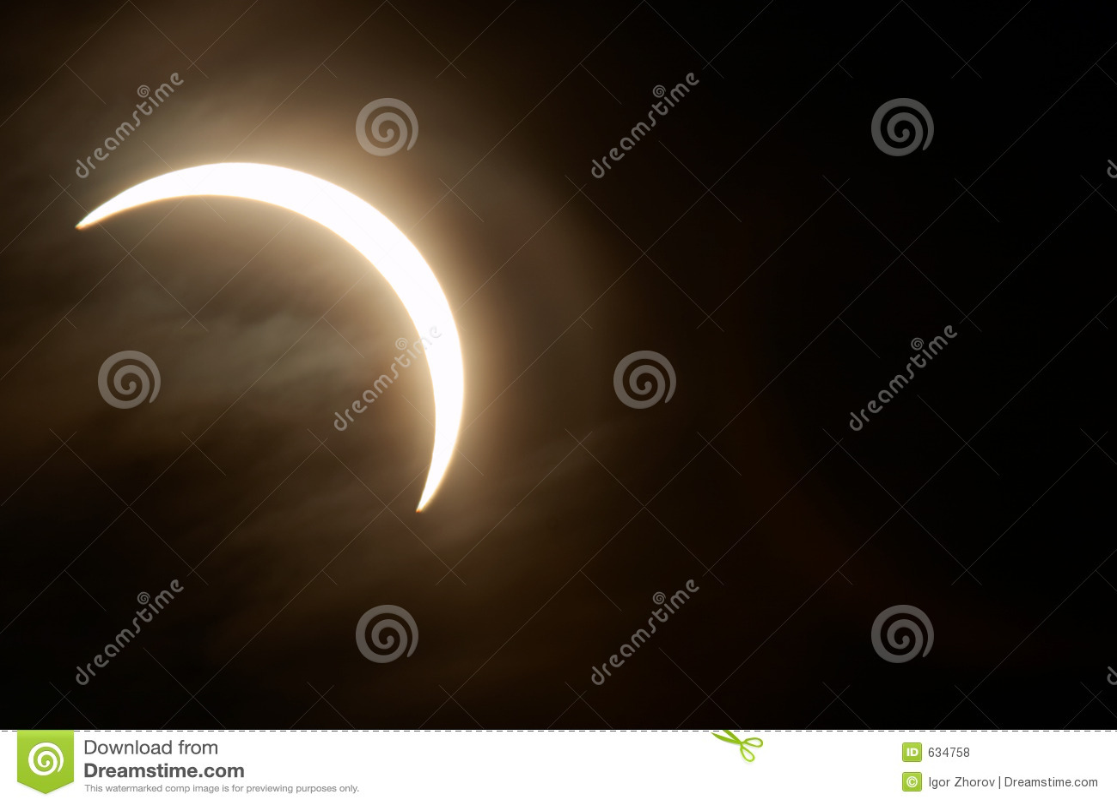 солнечное затмения частично