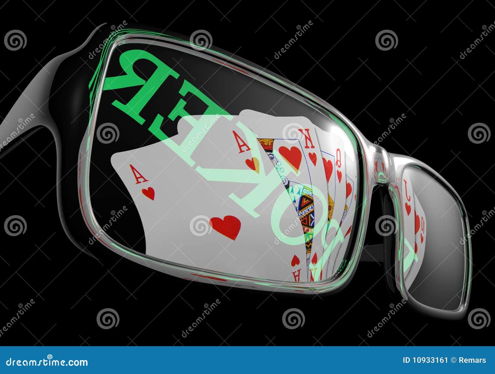 солнечные очки покера карточки