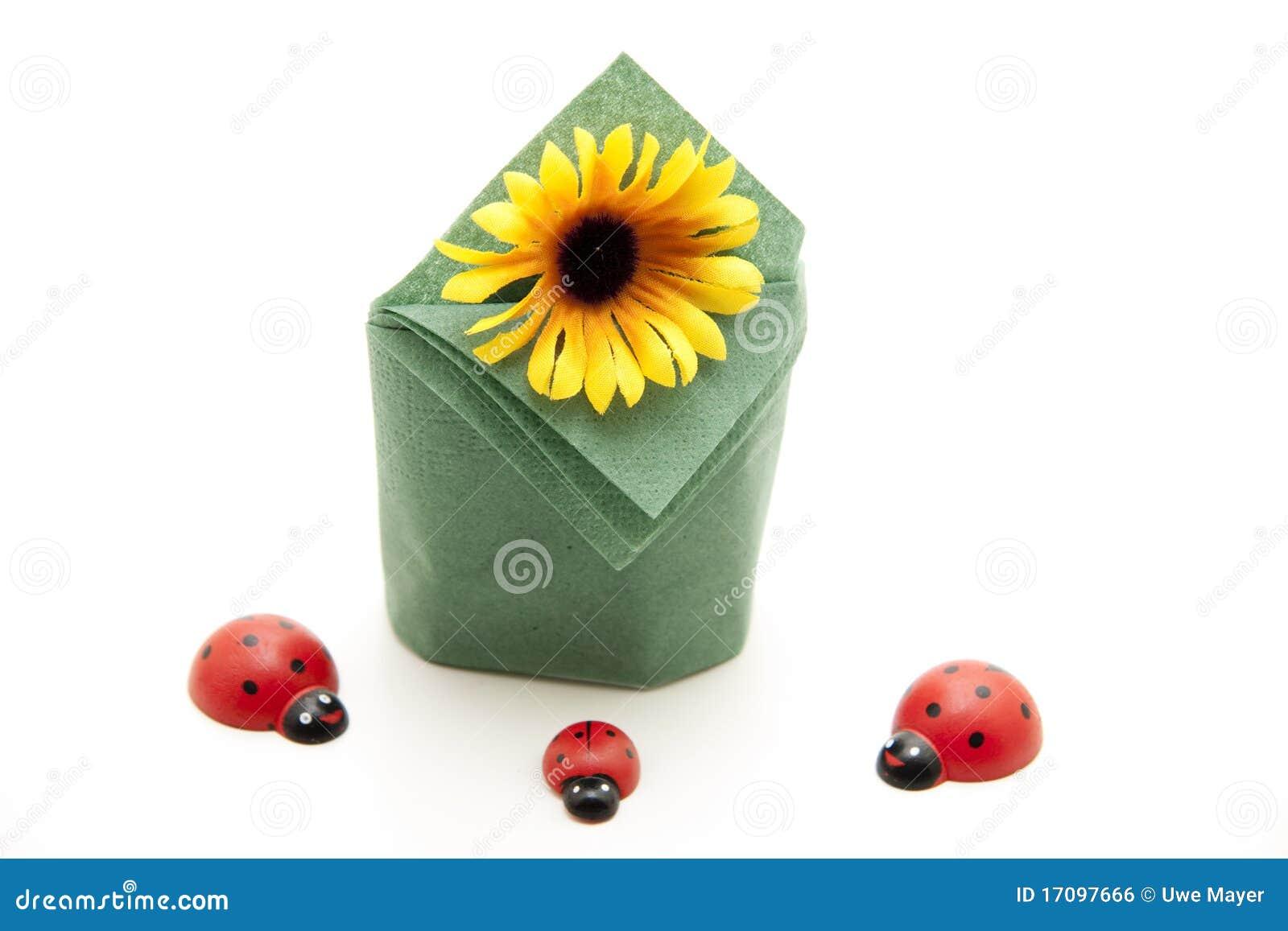 солнцецвет салфетки бумажный