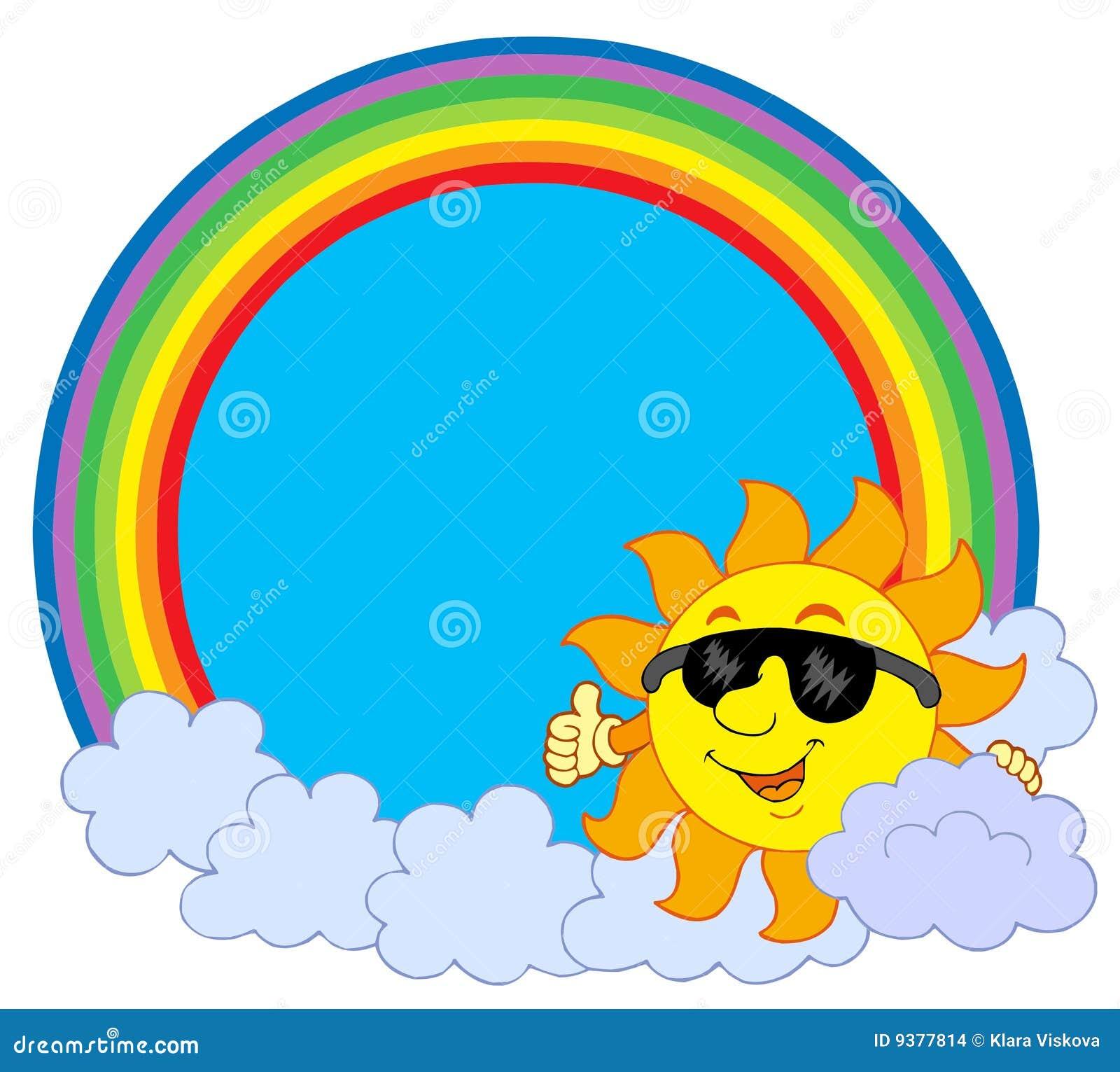 солнце радуги облака круга