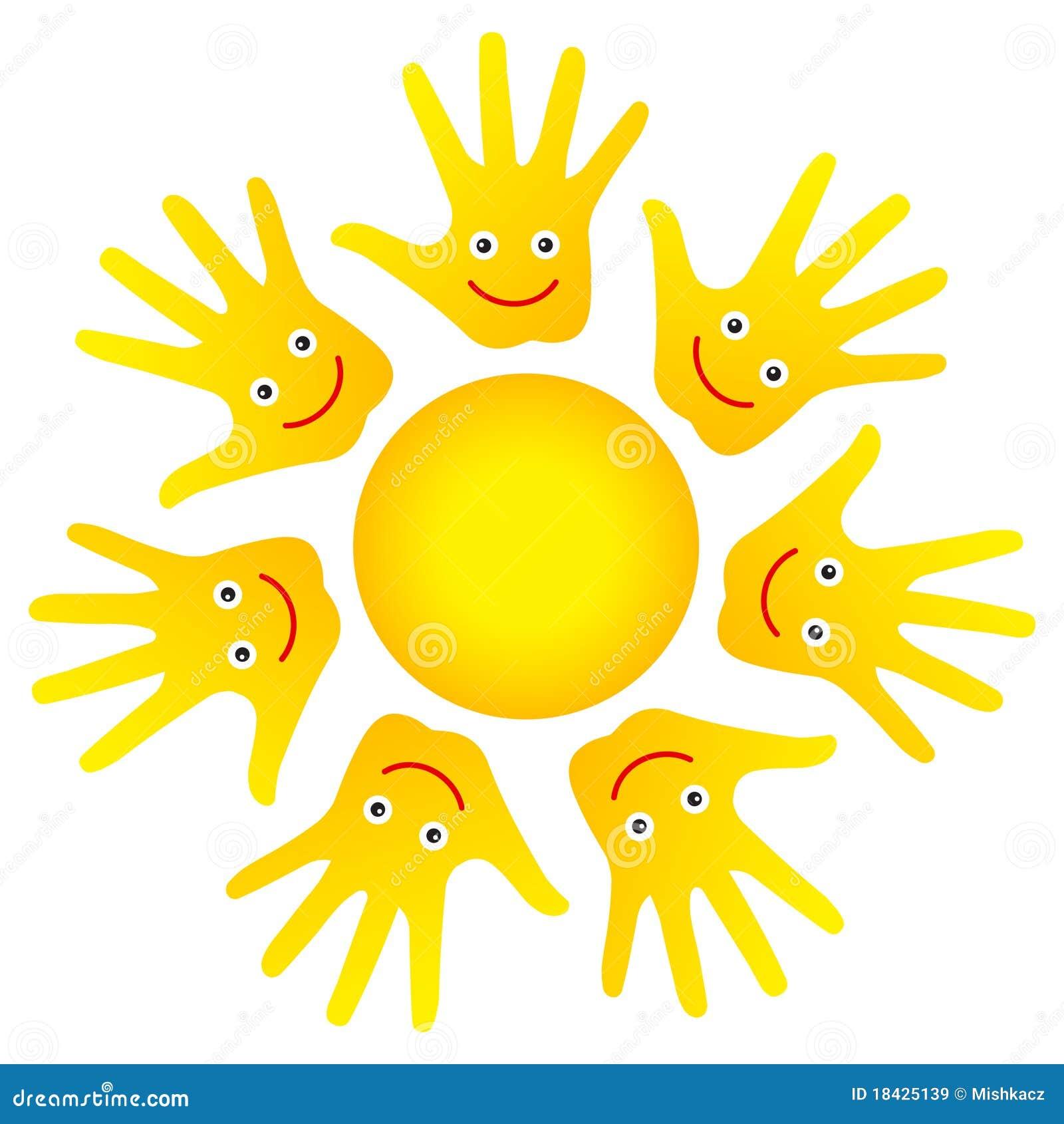 Картинки солнышко в ладошках на прозрачном фоне