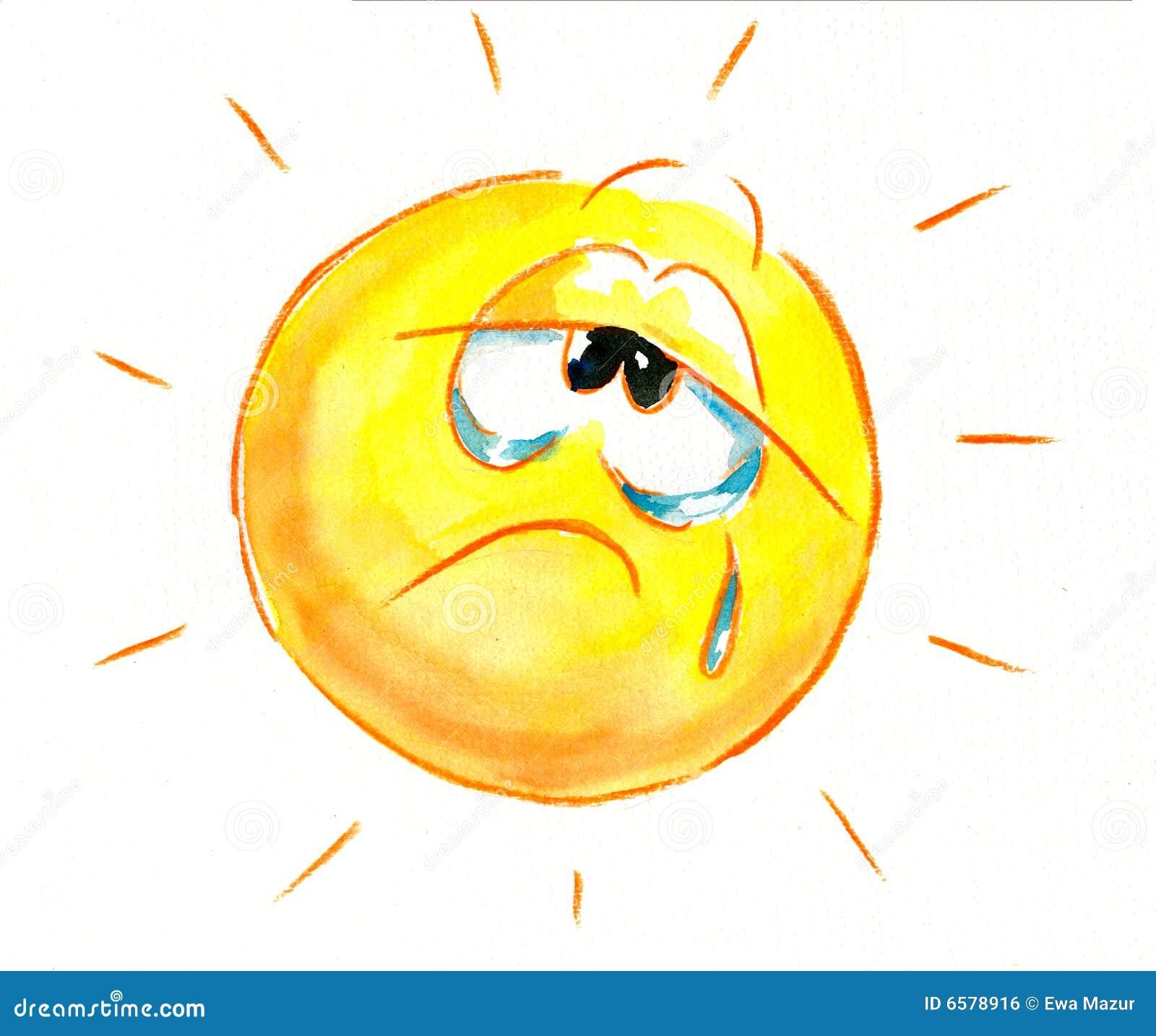 Картинки солнце грустное