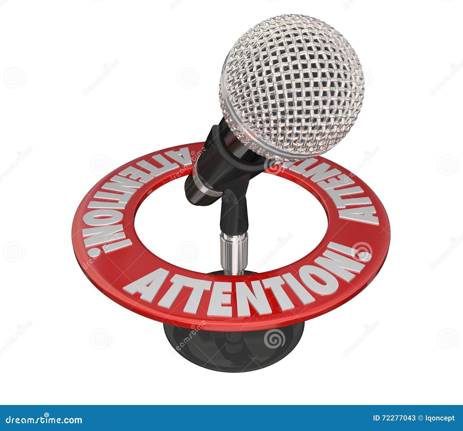 Download Сообщение микрофона слова внимания срочное критическое важное Иллюстрация штока - иллюстрации насчитывающей микрофон, уточнение: 72277043