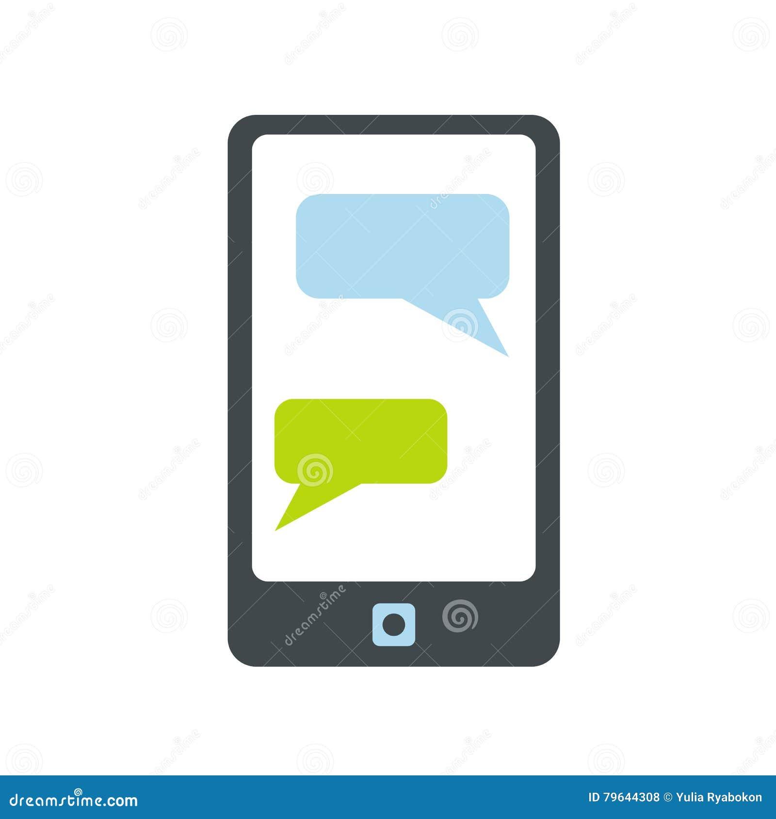 Сообщения на значке телефона