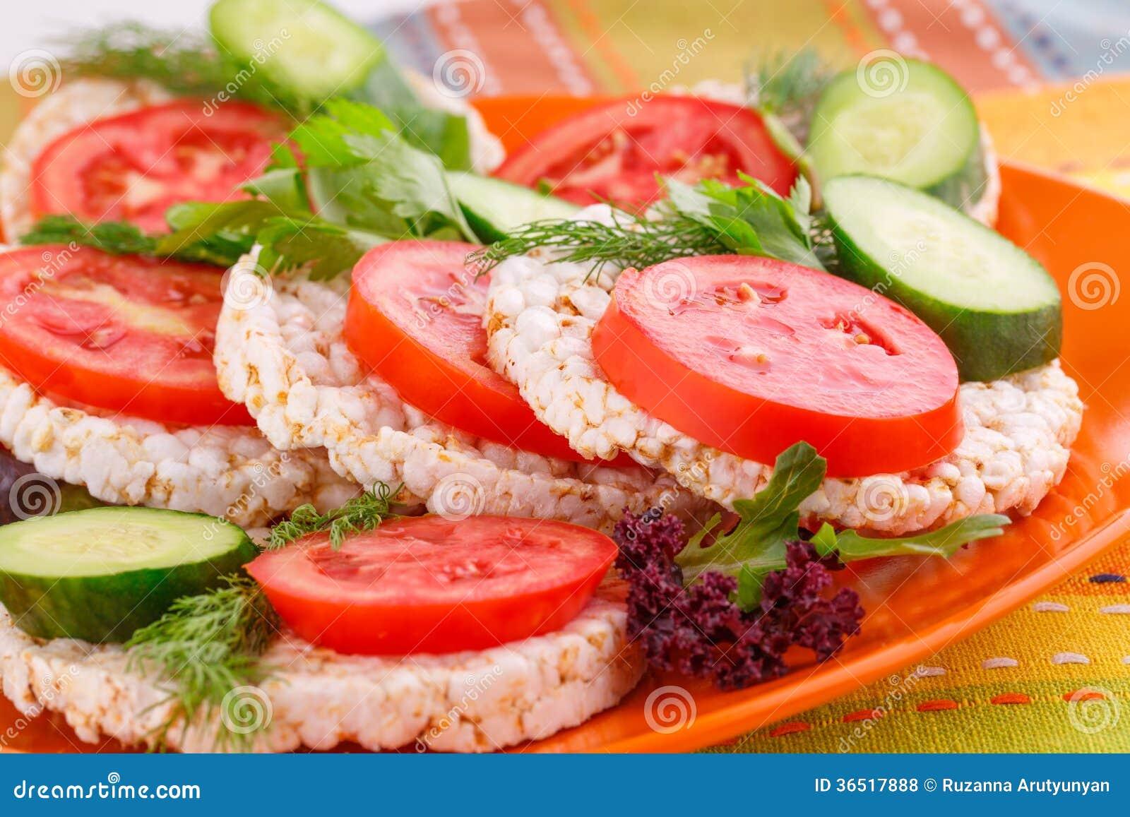 Сопенные сандвичи шутих риса