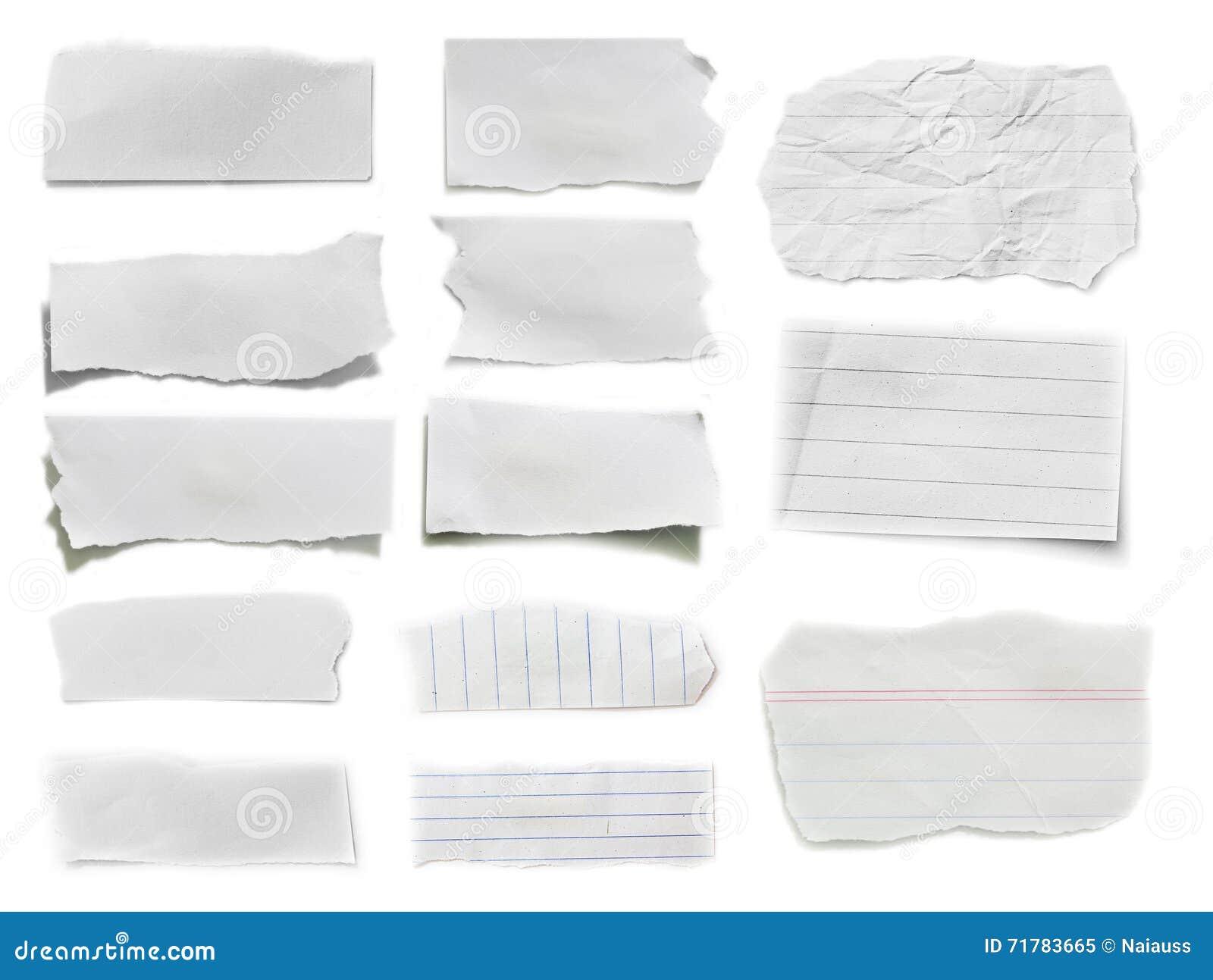 Сорванная бумага, часть сорванной бумаги