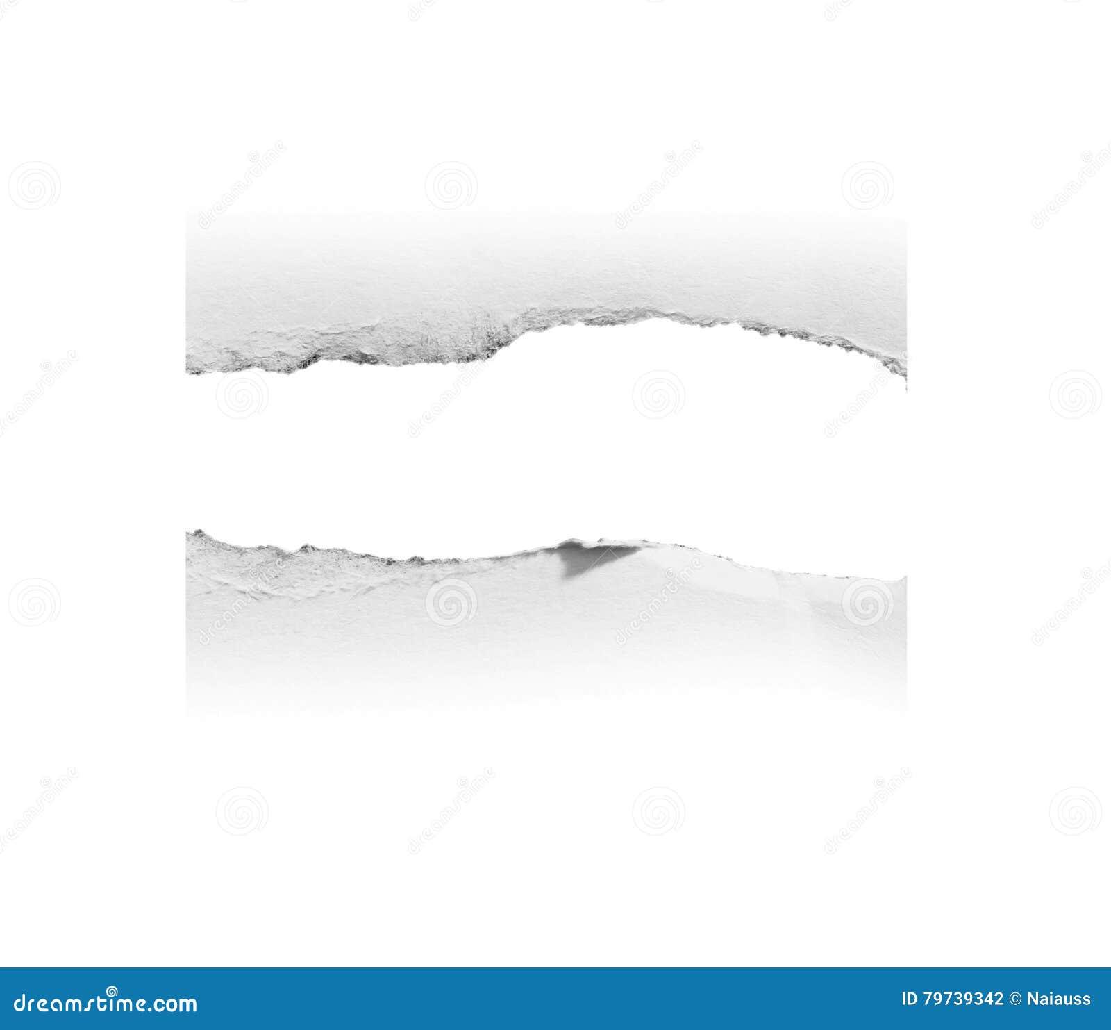 Сорванная бумажная и сорванная бумага