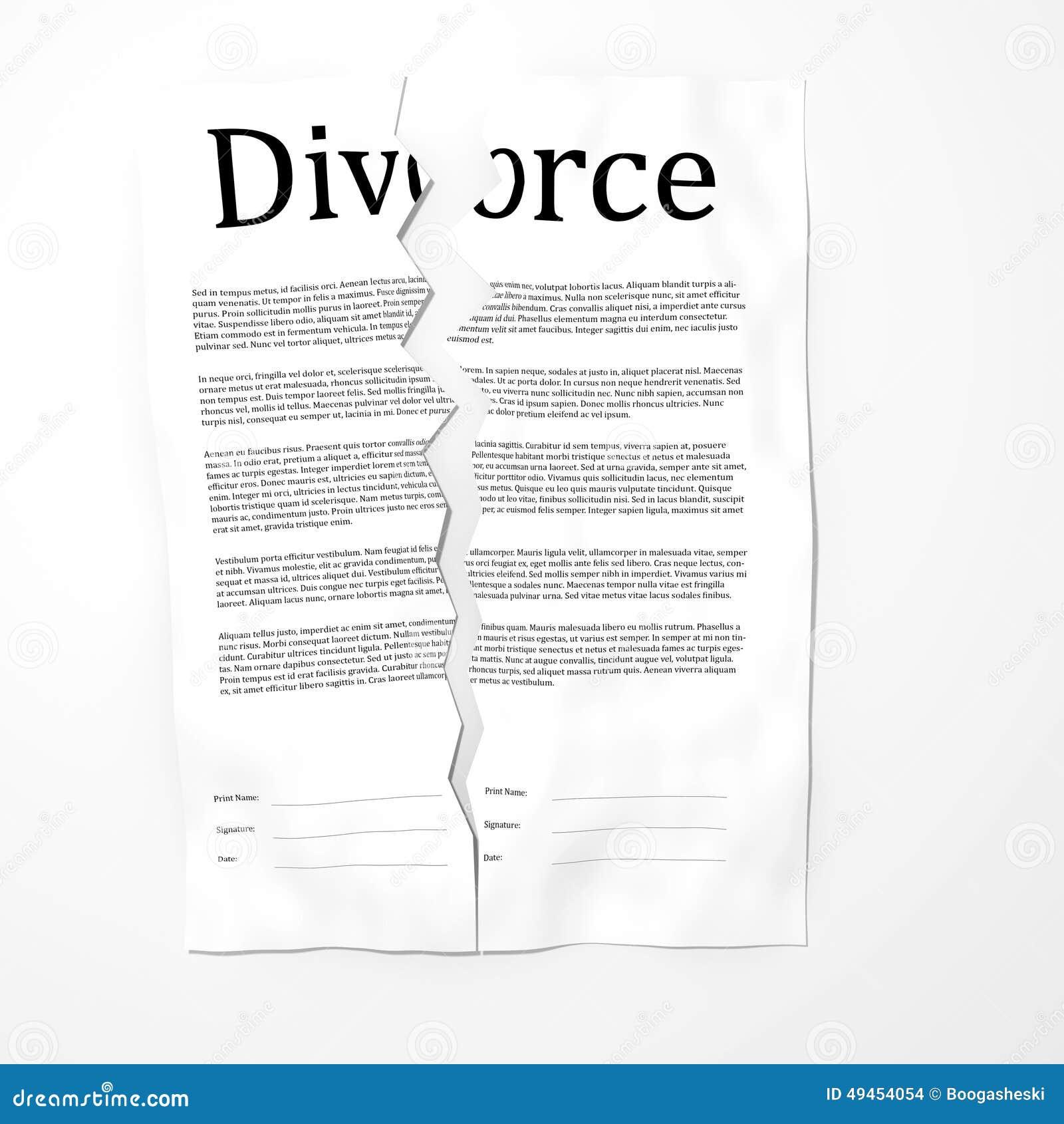 Сорванные вверх бумаги развода