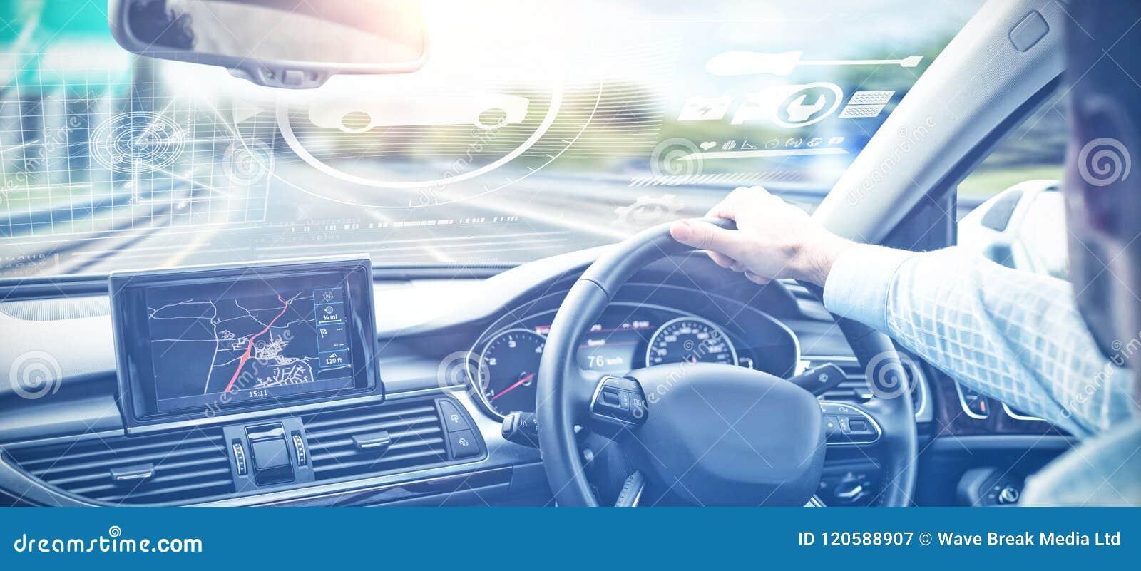 Составное изображение цифрового изображения автомобилей и инструментов