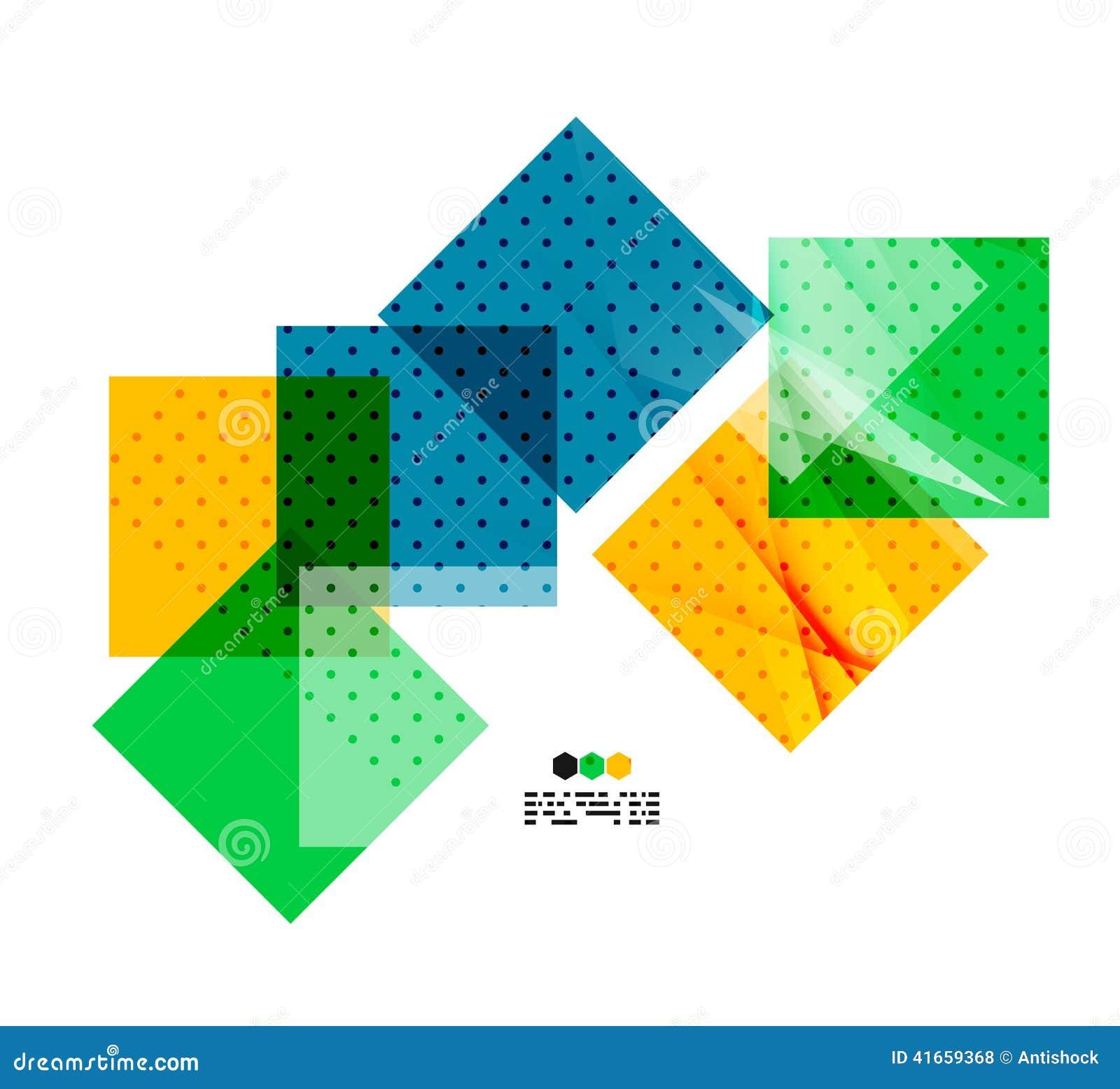 Составы вектора светлые геометрические