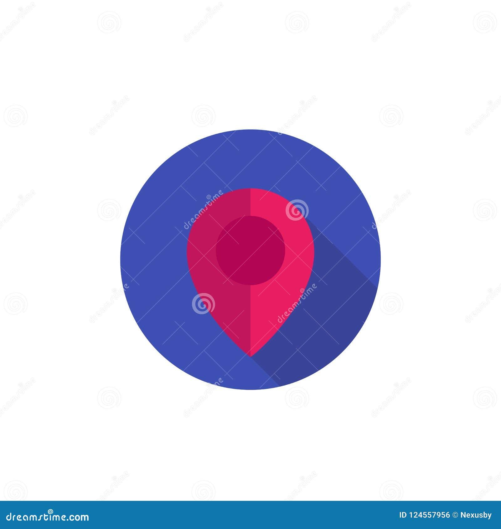 Составьте карту указатель, штырь, значок положения на белизне