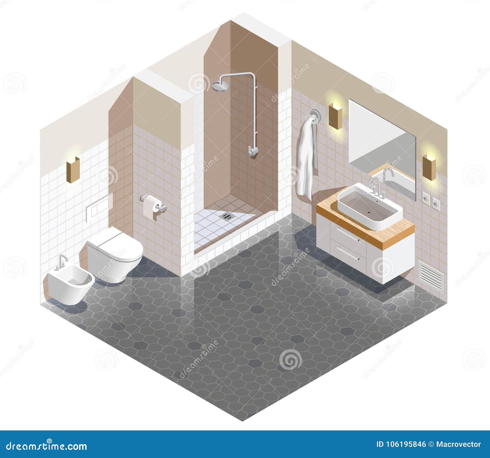 Состав ванной комнаты внутренний равновеликий