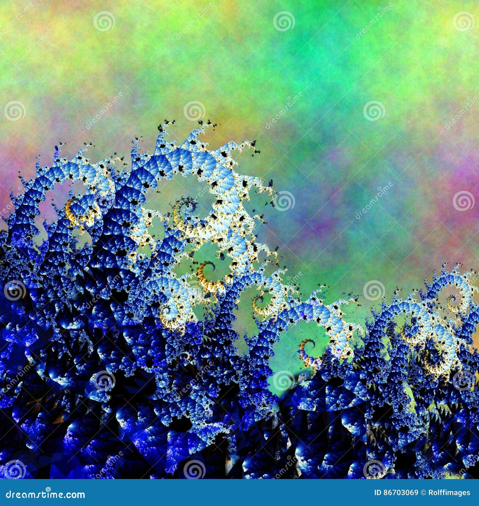 Состав волны фрактали