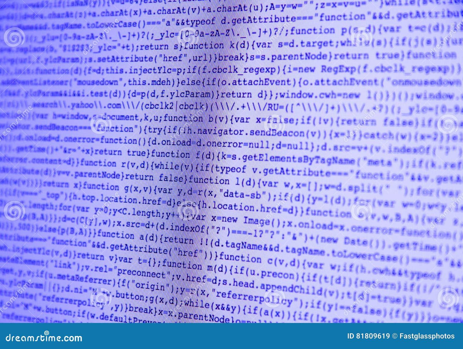 Состав команд вычислительной машины на пурпуре экрана