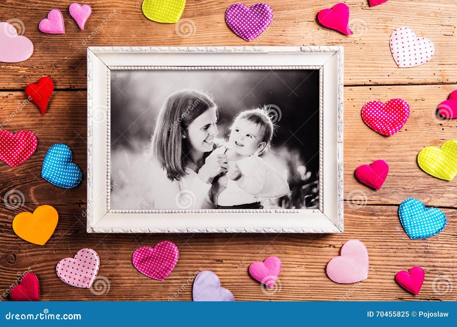 Состав дня матерей, картинная рамка Съемка студии, деревянная, bac