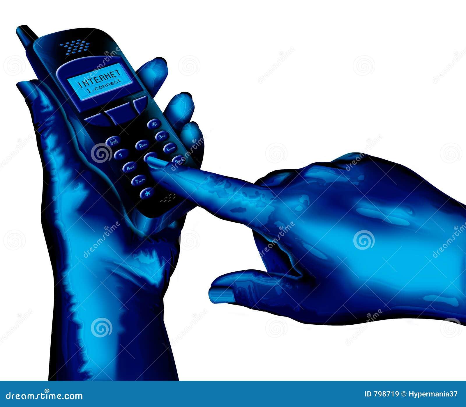 сотовый телефон используя