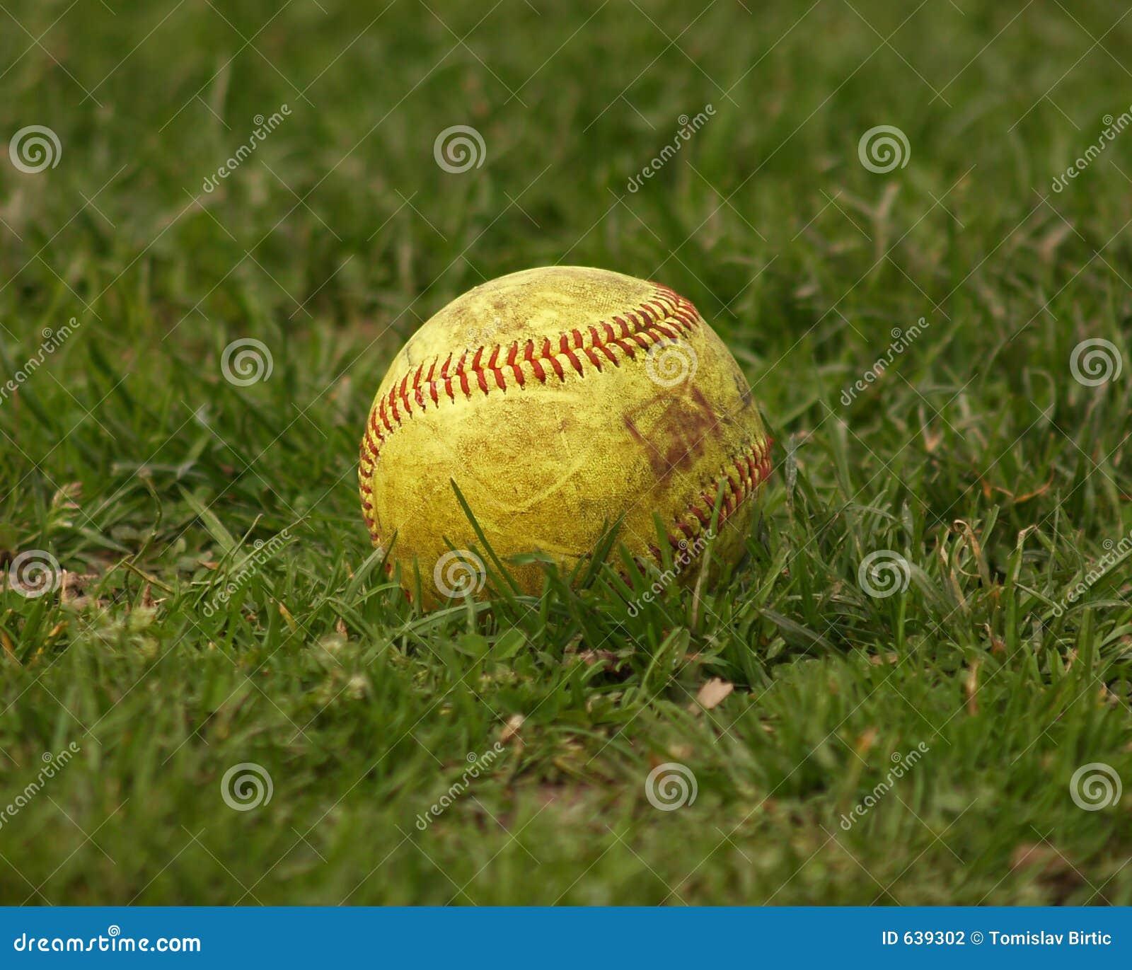 Download софтбол шарика стоковое фото. изображение насчитывающей свободно - 639302