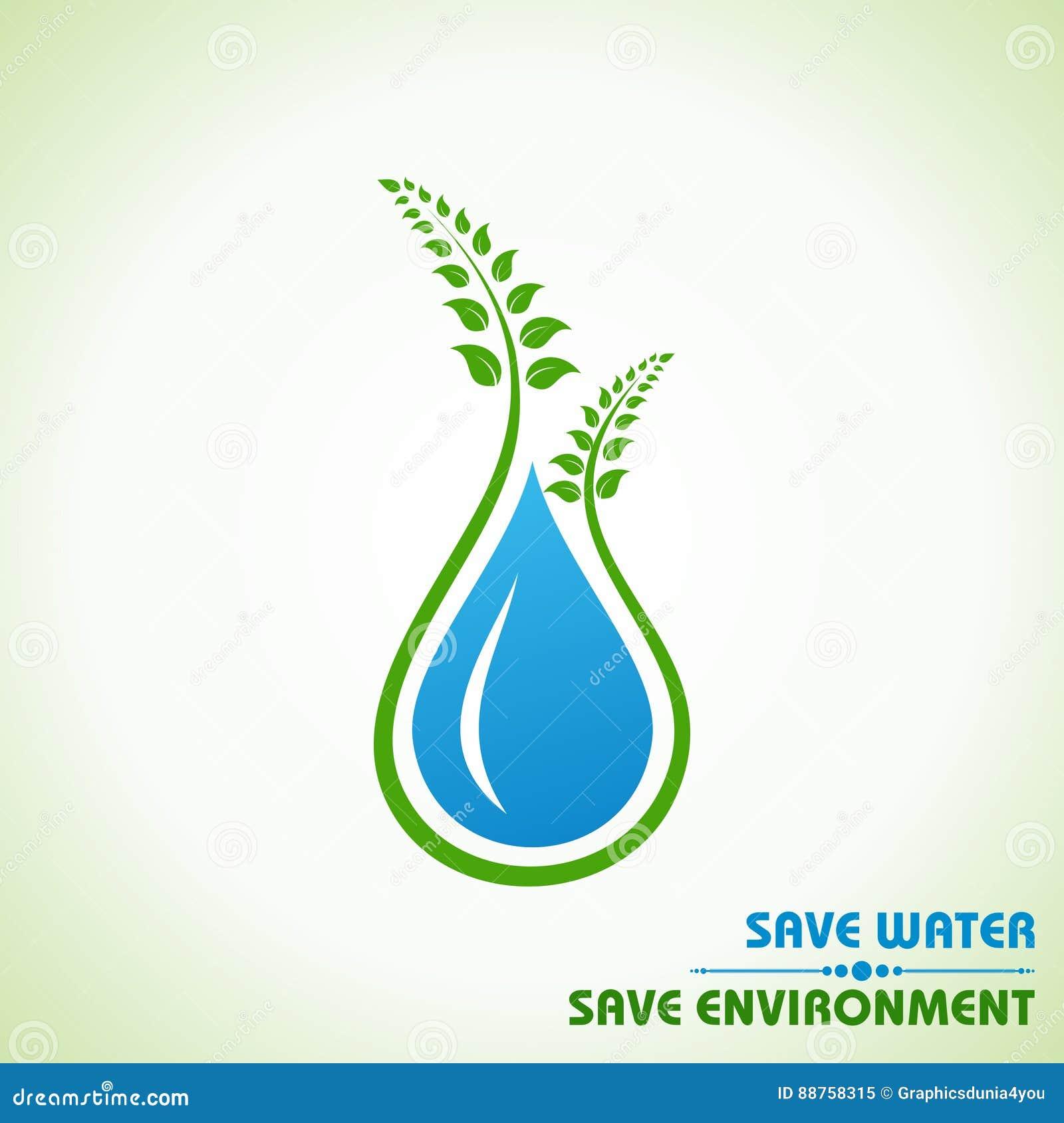 Сохраньте землю, воду и концепцию окружающей среды