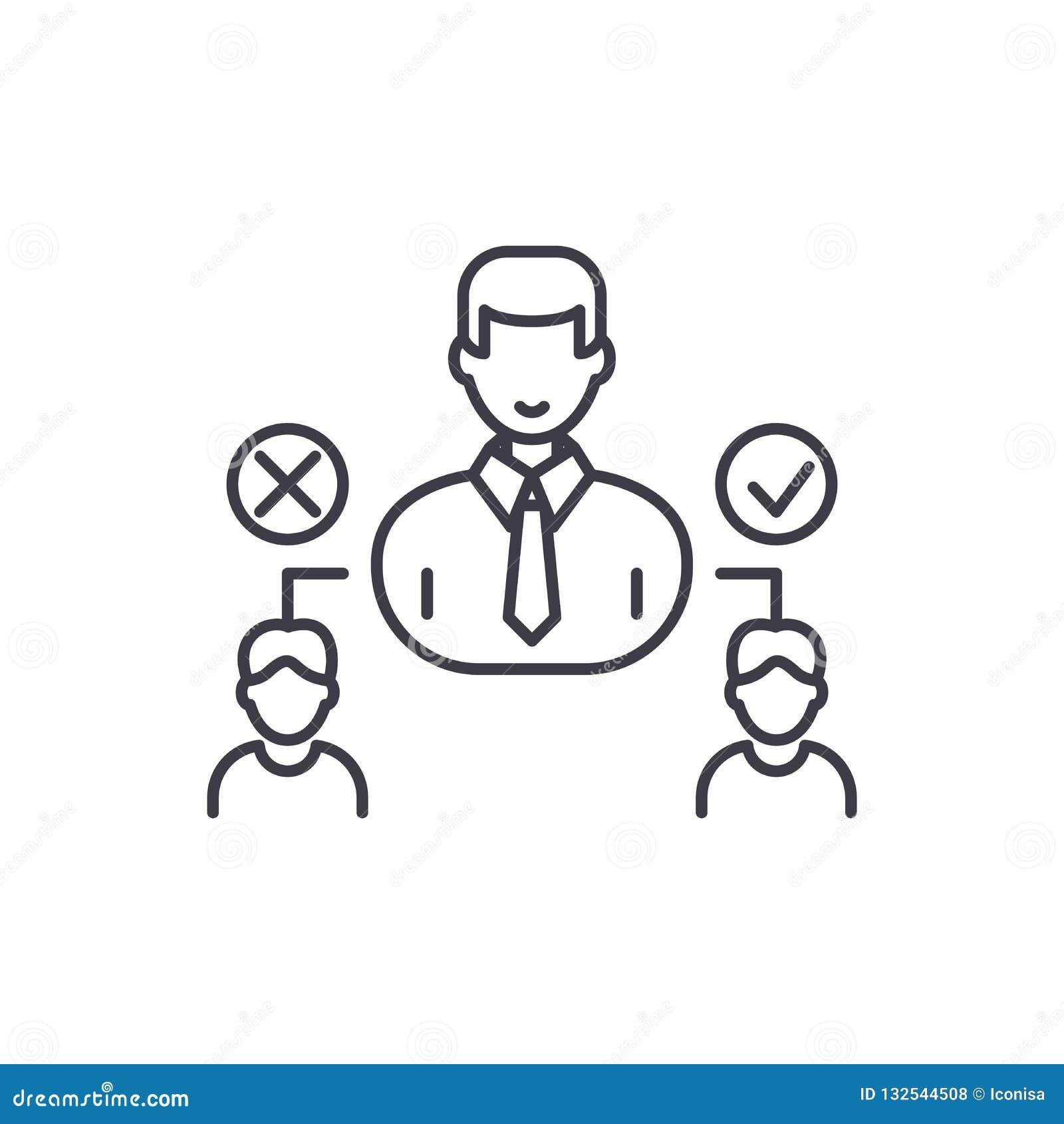 Социальная линия концепция иерархии значка Иллюстрация социального вектора иерархии линейная, символ, знак