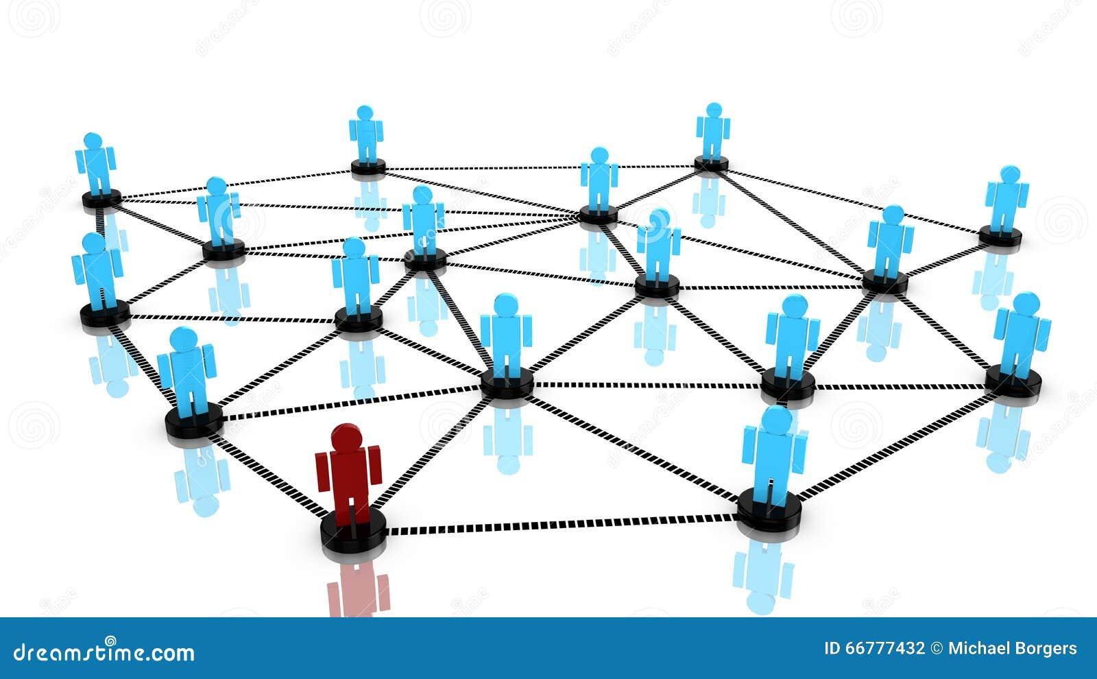 Социальная концепция сети с соединенными людьми