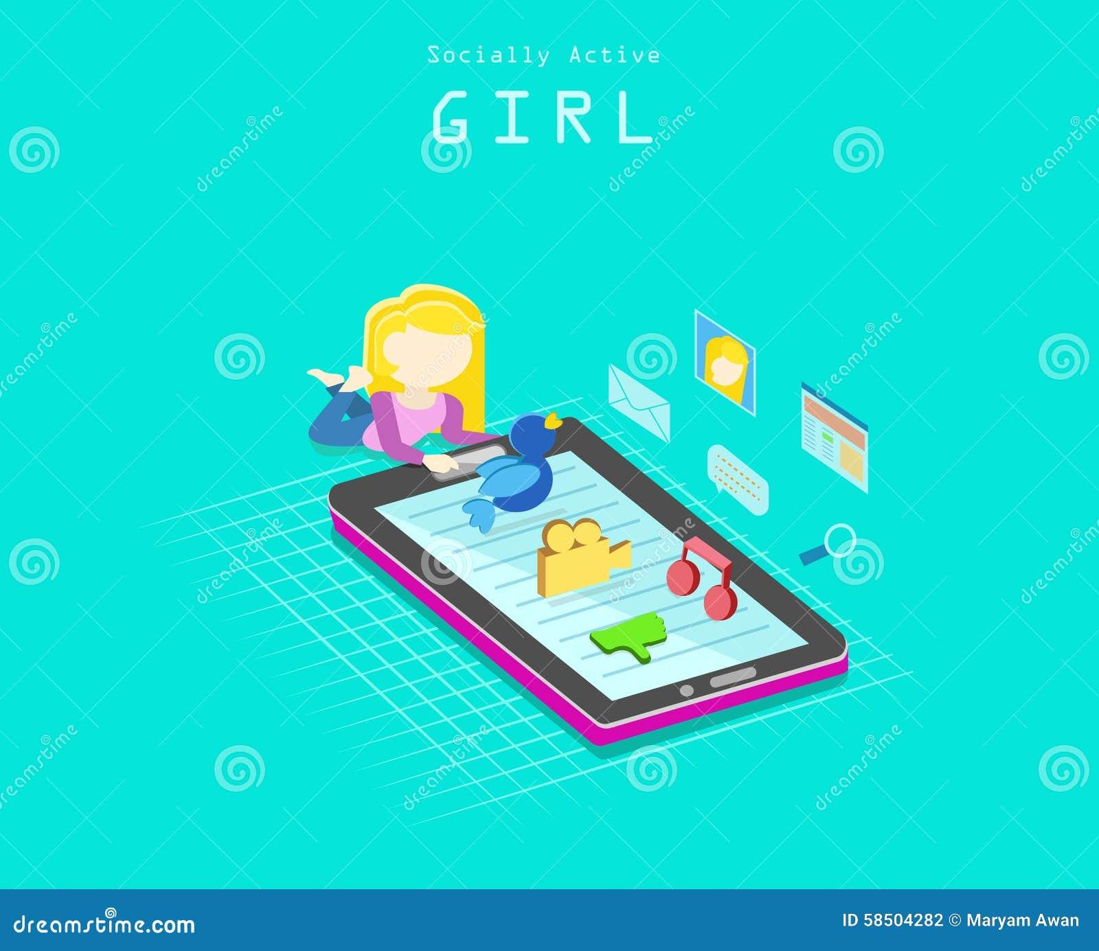 Социально активная девушка
