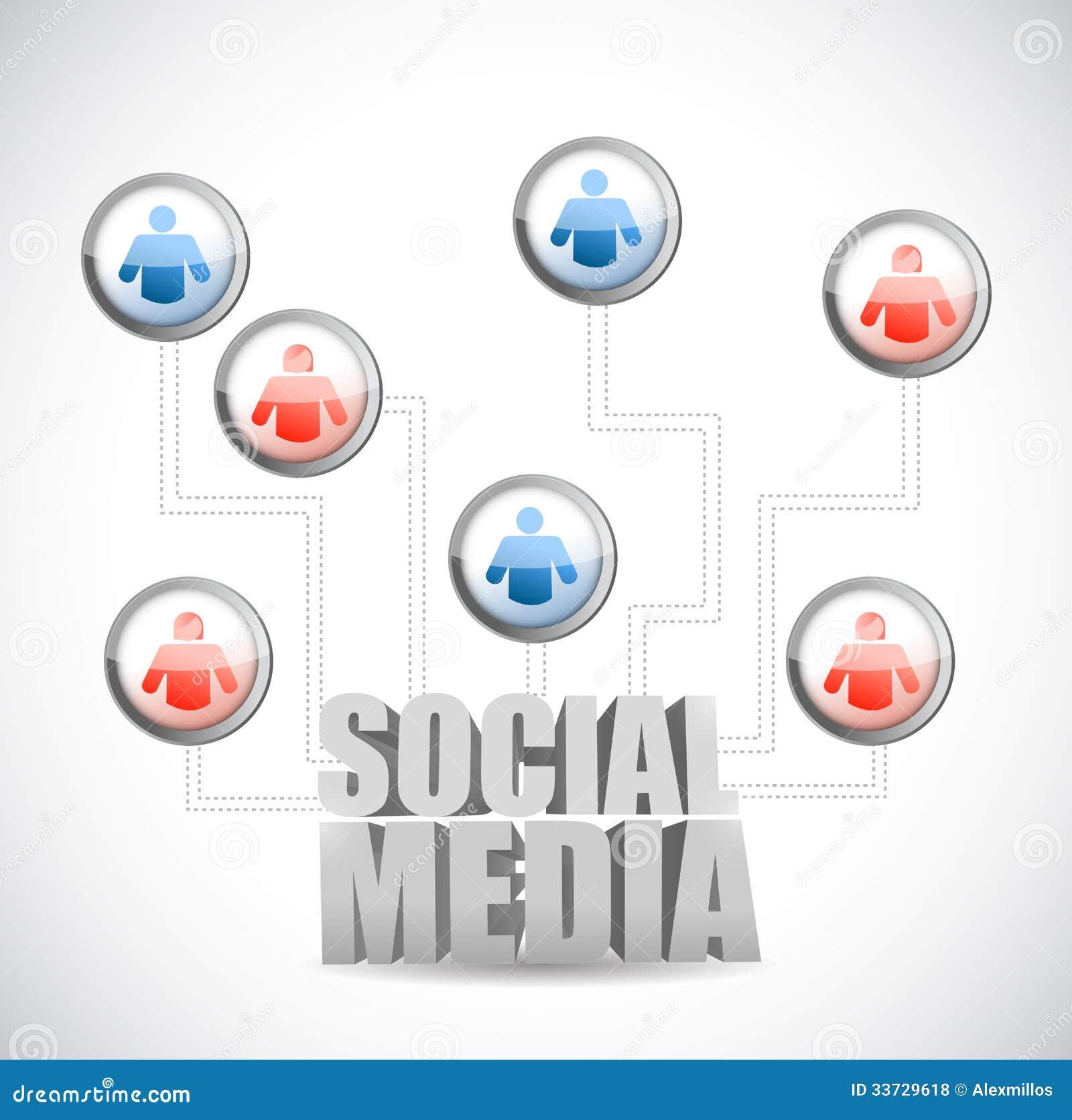 Социальный дизайн иллюстрации диаграммы значка средств массовой информации