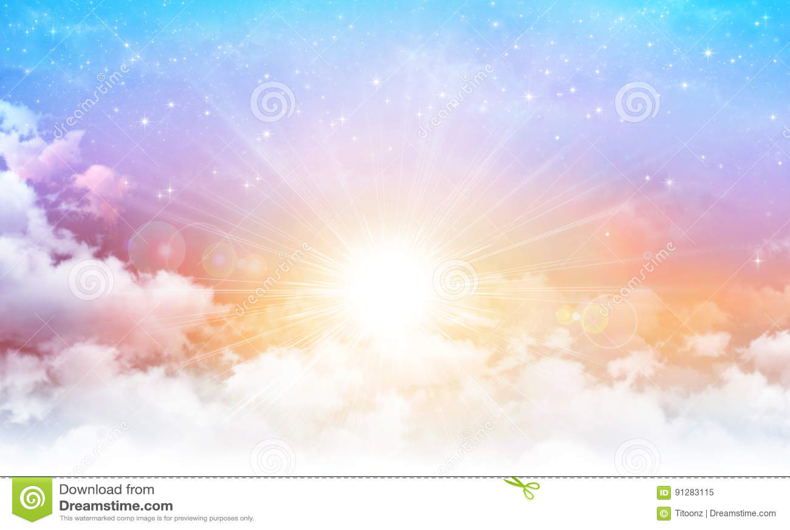 Солнечность в красивом небе