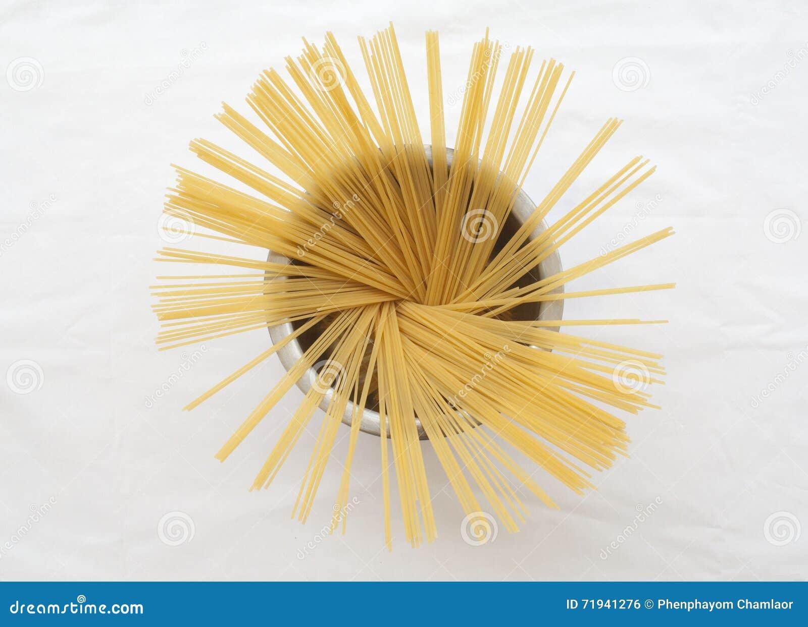 Спагетти сухие подготавливают кашевара