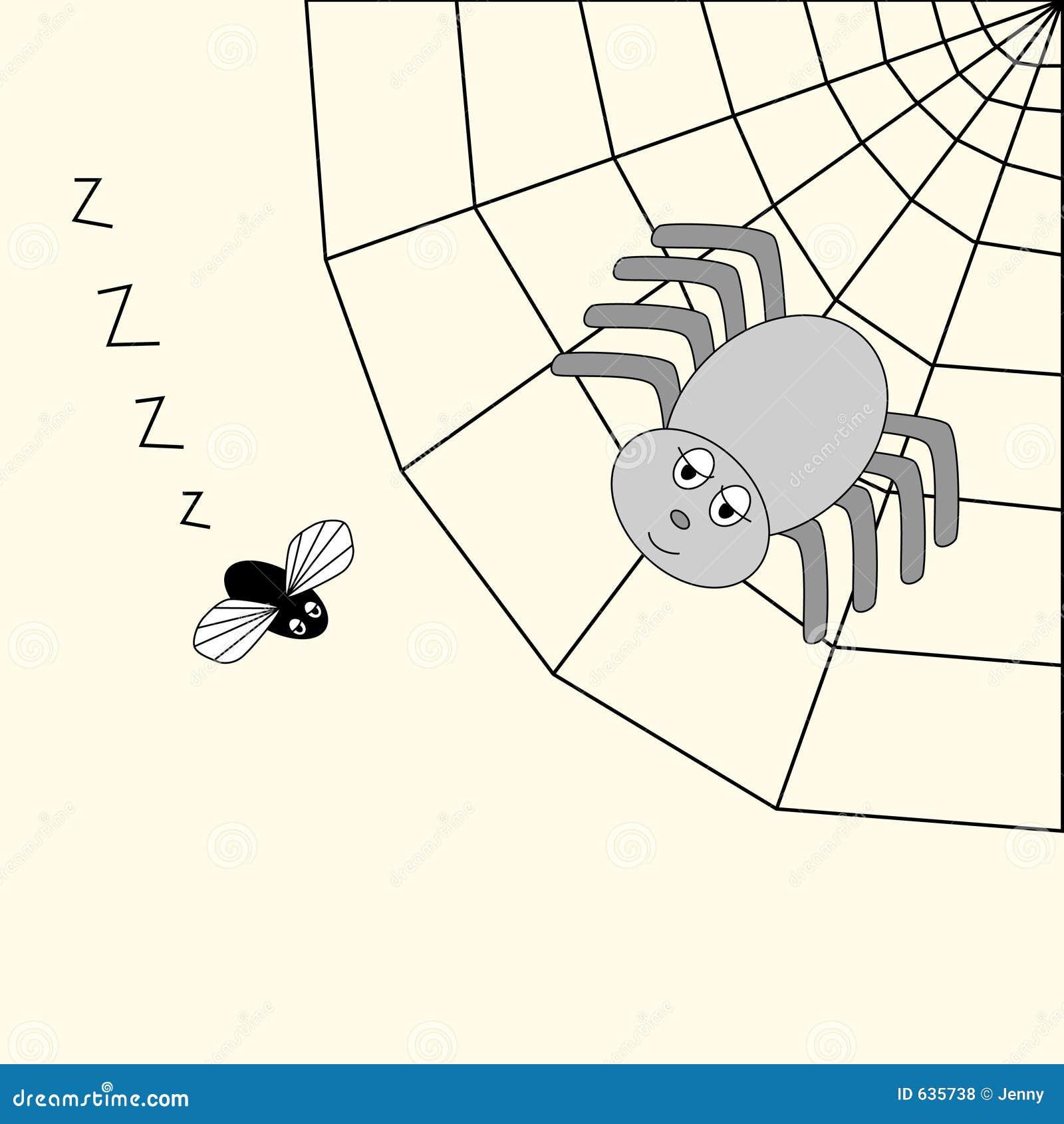 Download спайдер мухы иллюстрация вектора. иллюстрации насчитывающей чертеж - 635738